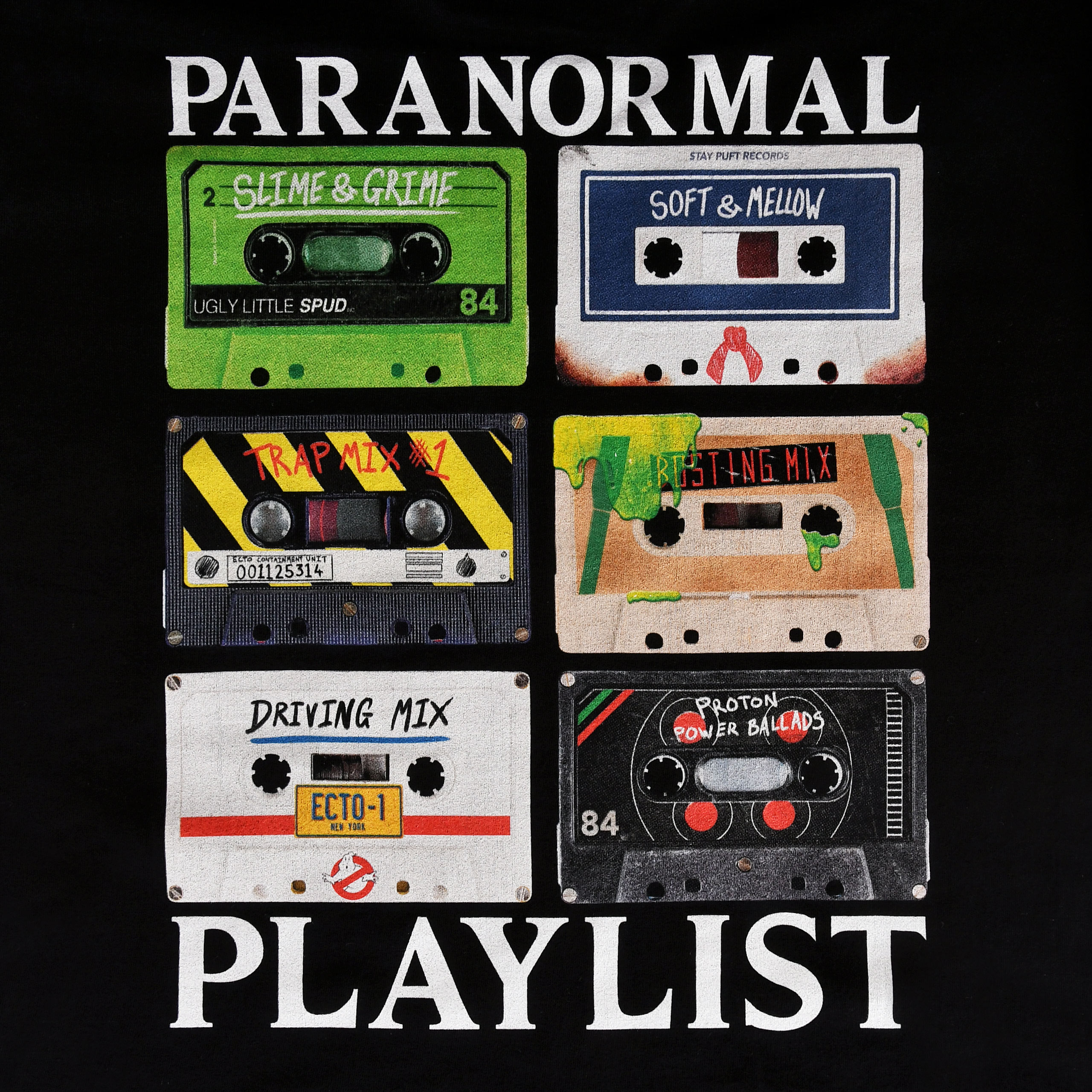 Ghostbusters - Paranormal Playlist T-Shirt schwarz