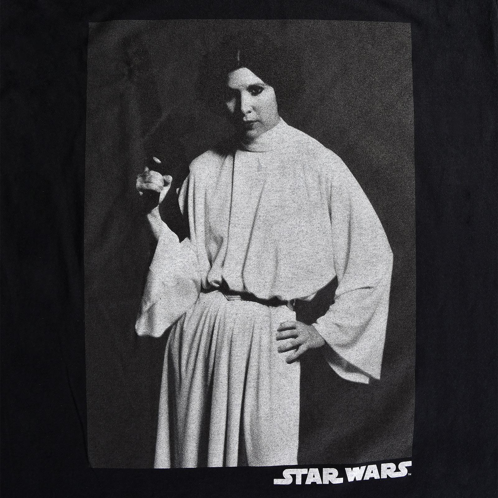 Star Wars - Leia Portrait T-Shirt schwarz