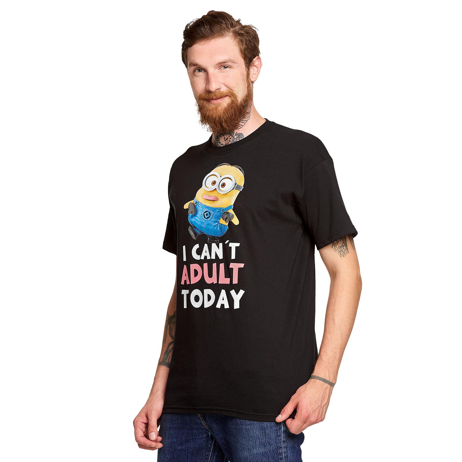 Minions - No Adult Today T-Shirt schwarz