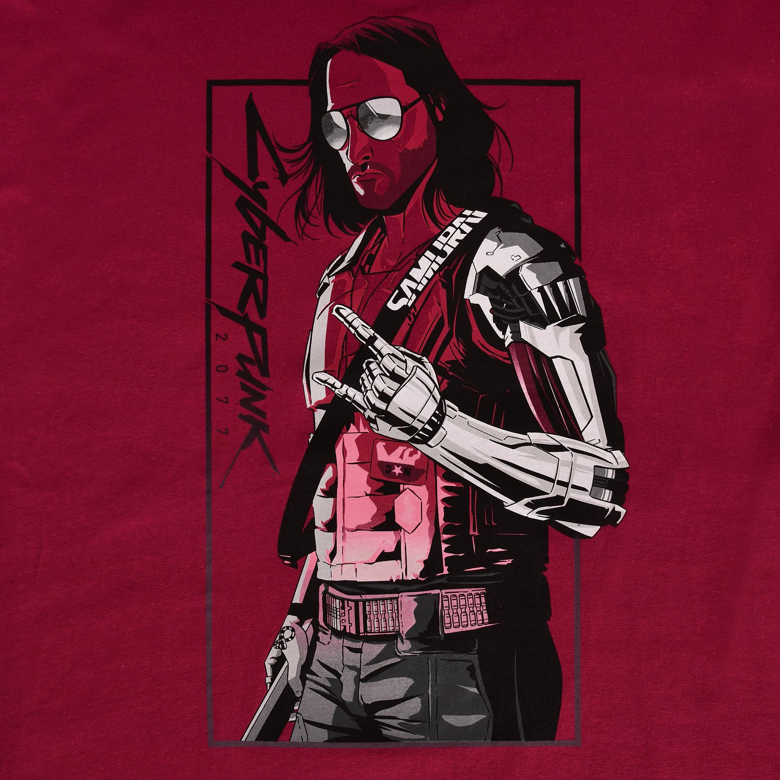 Cyberpunk 2077 - Toy Box Johnny T-Shirt rot