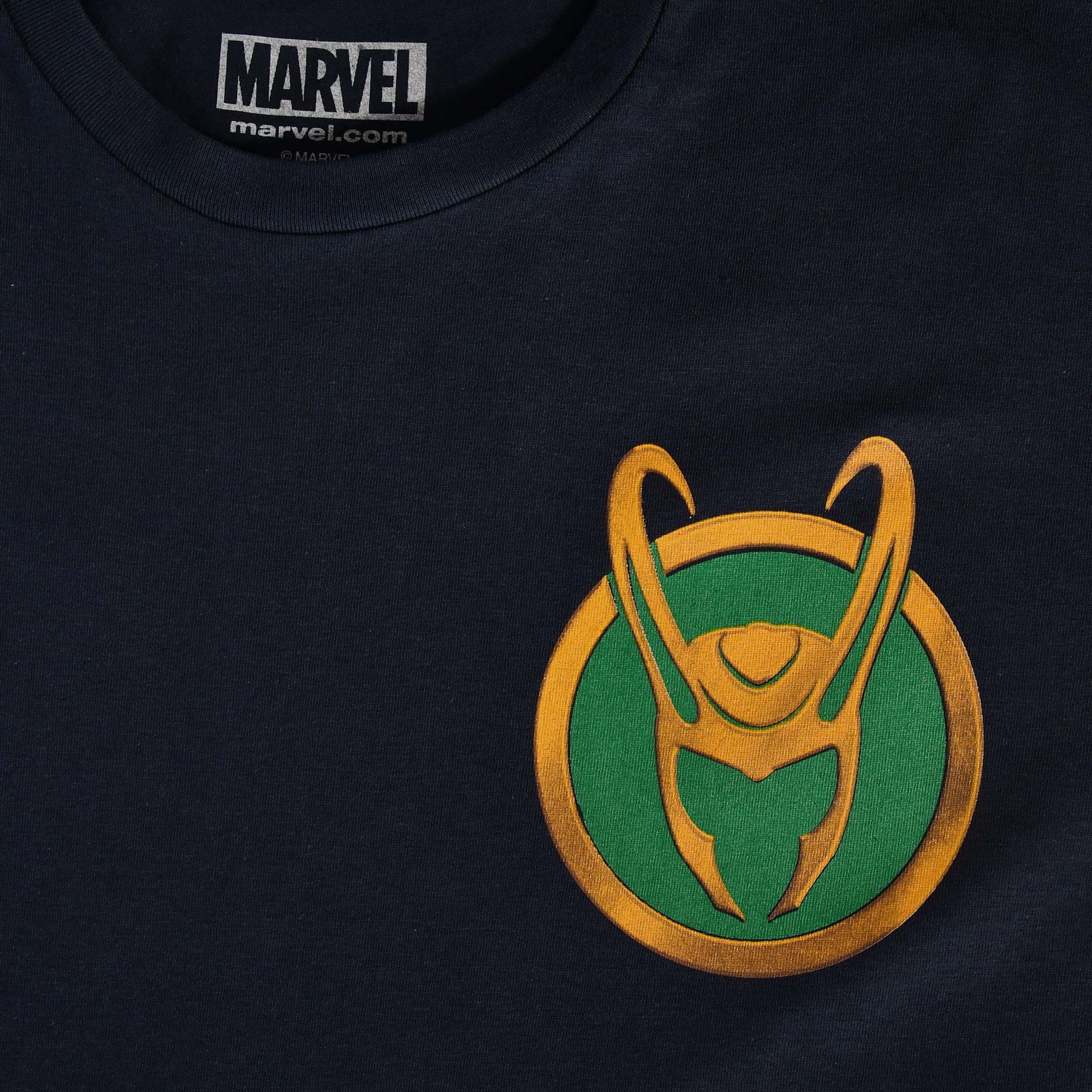 Loki - Logo T-Shirt blau