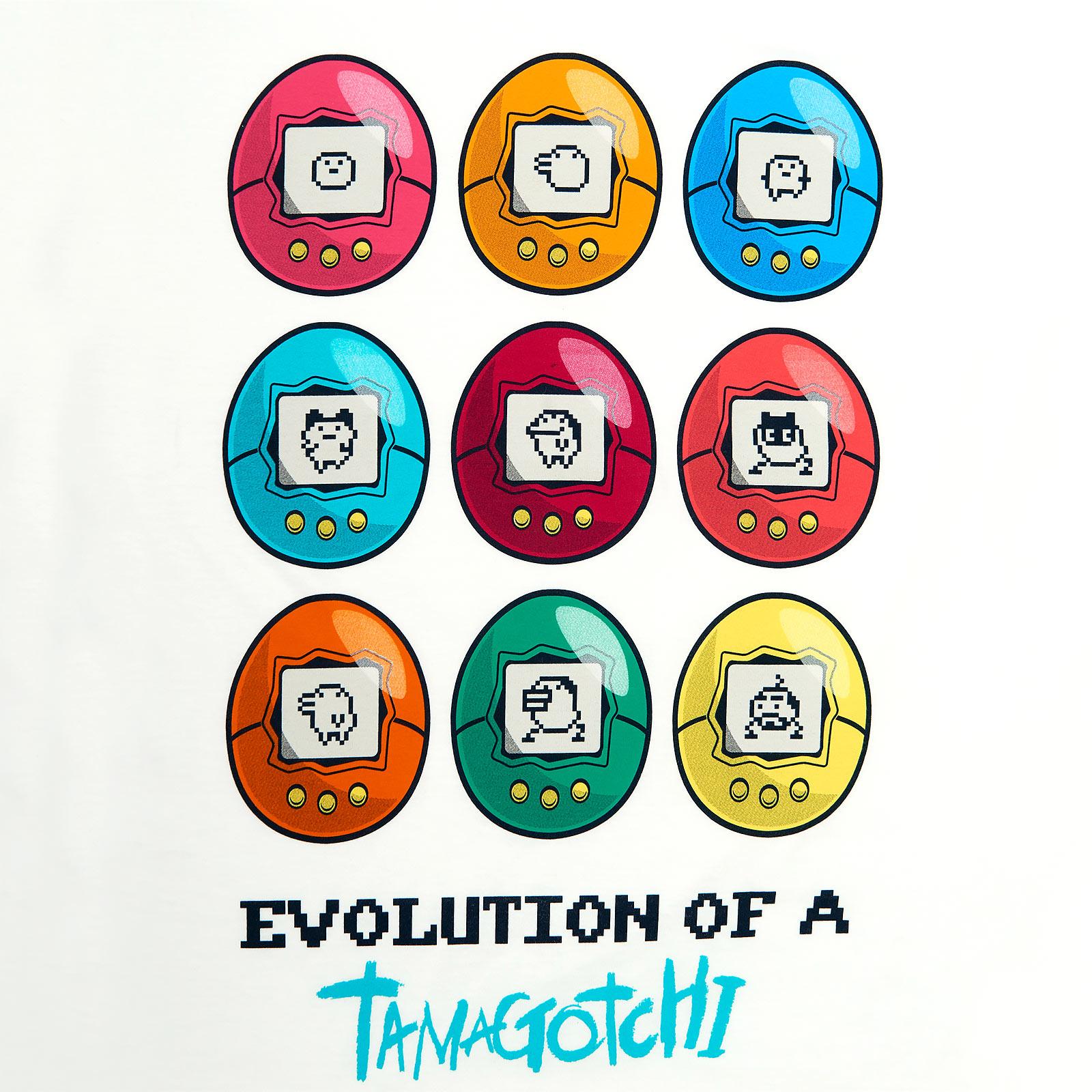 Tamagotchi - Evolution of a Tamagotchi T-Shirt weiß