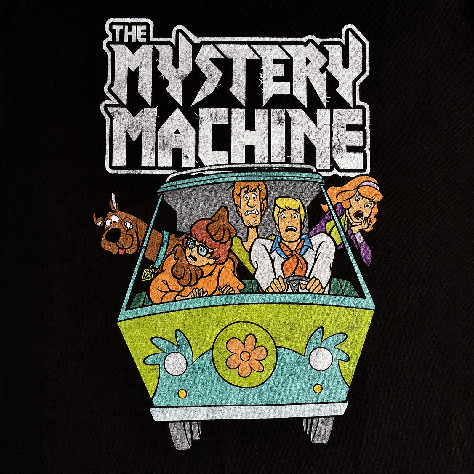 Scooby-Doo - Mystery Machine Vintage T-Shirt schwarz