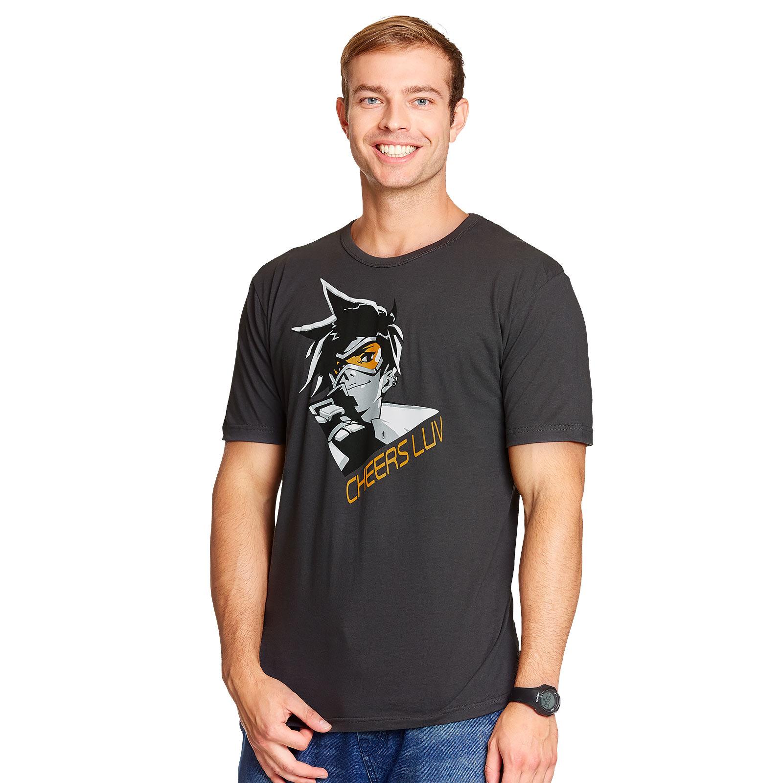 Overwatch - Tracer T-Shirt grau