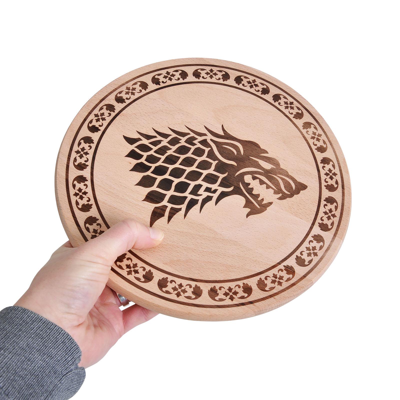 Game of Thrones - House Stark Schneidebrett Buche