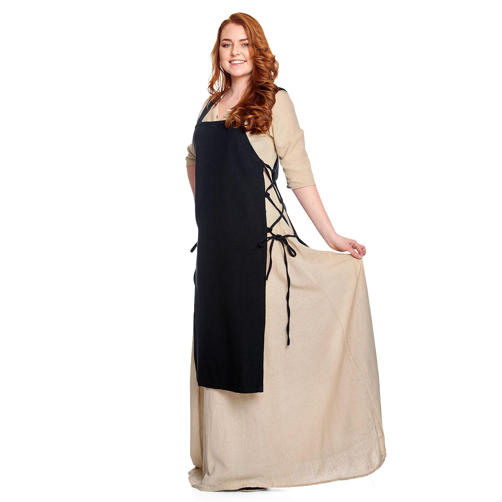 Mittelalter Überkleid Aleiga schwarz