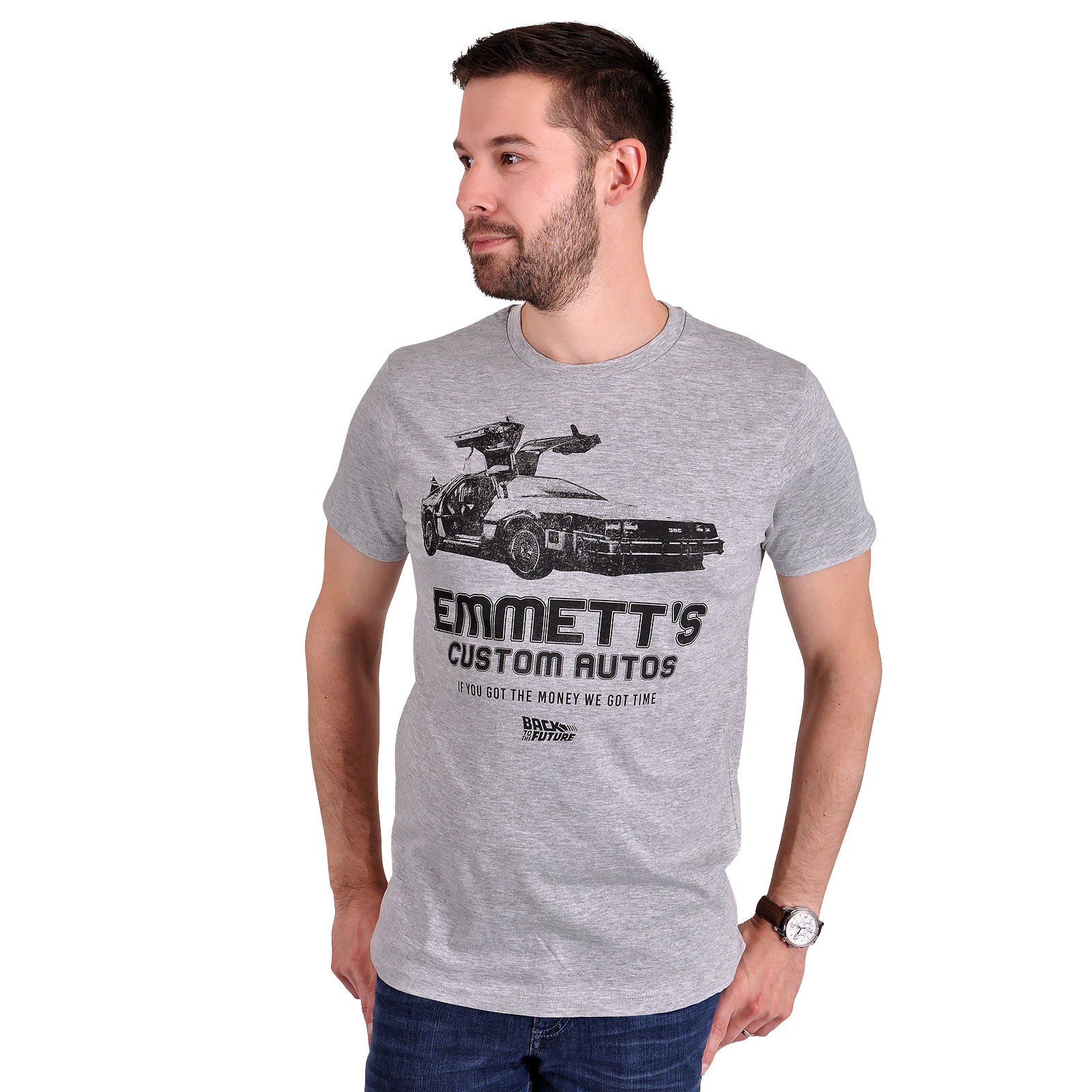 Zurück in die Zukunft - Emmett's Custom Autos T-Shirt grau