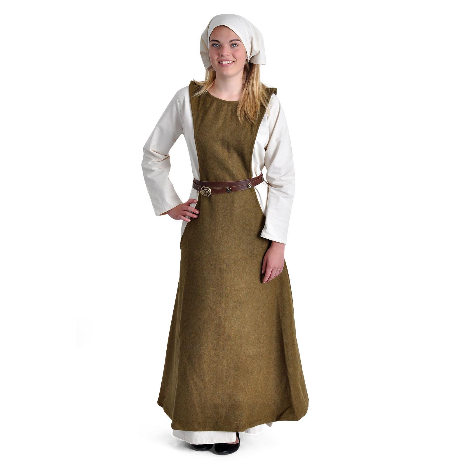 Mittelalter Überkleid Surcot Albrun grün