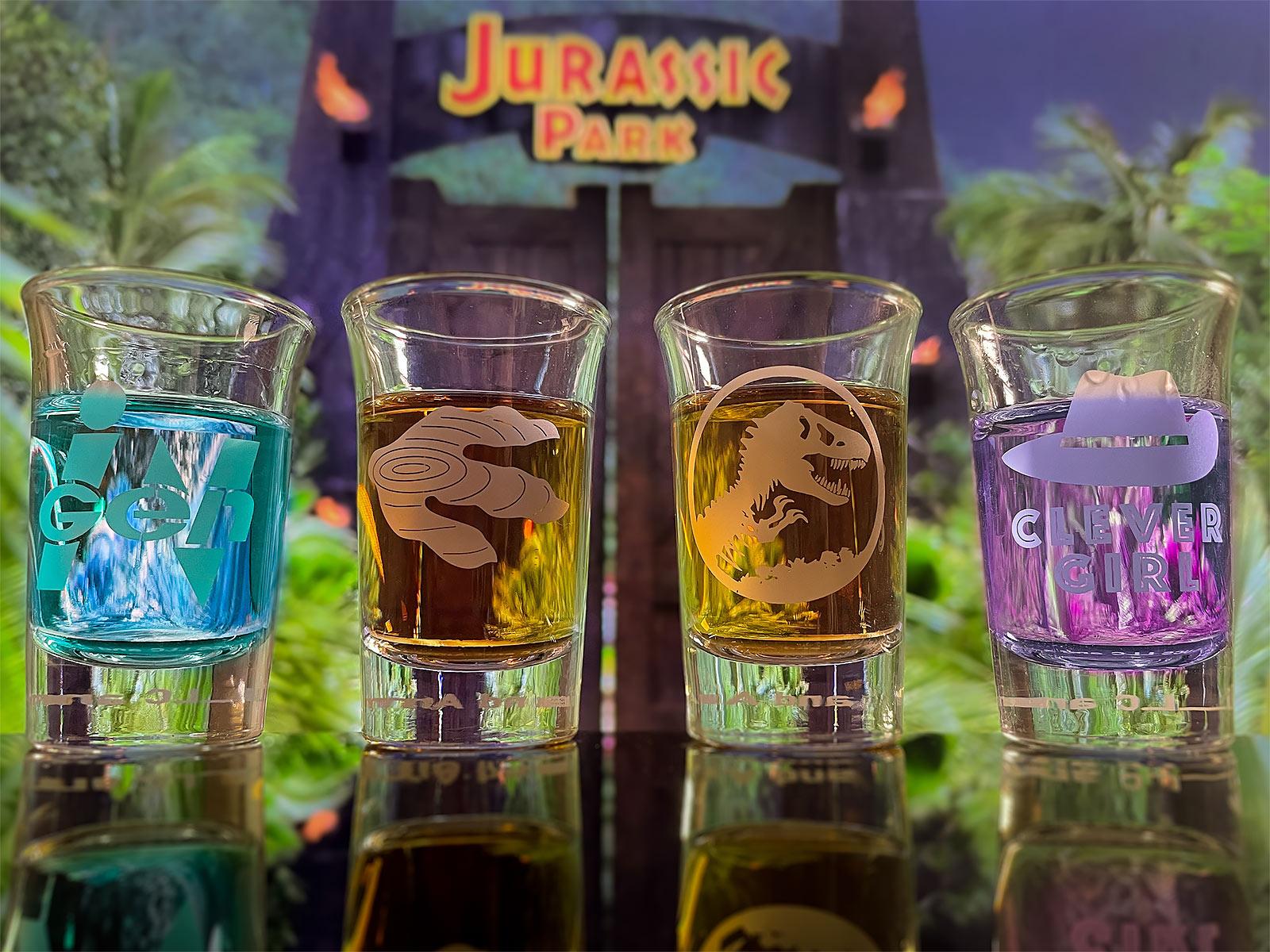 Jurassic Park Shots Gläserset