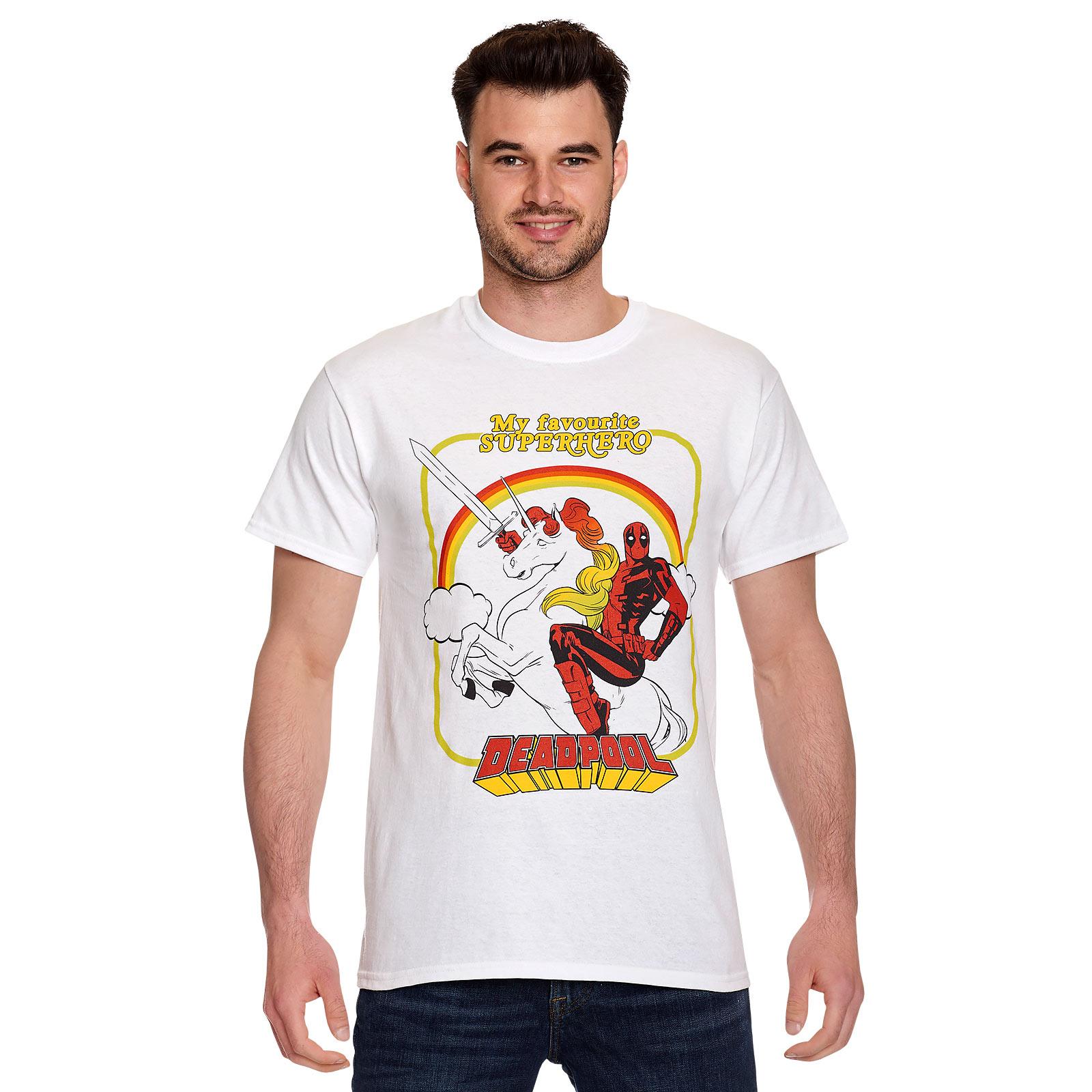 Deadpool - My Favourite Superhero T-Shirt weiß