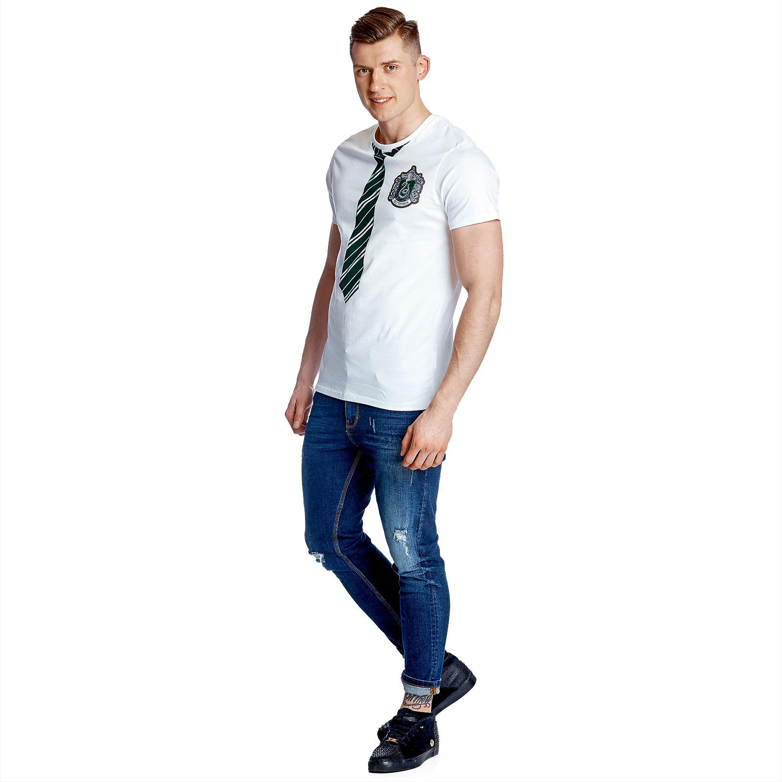 Harry Potter - Slytherin Lookalike T-Shirt weiß