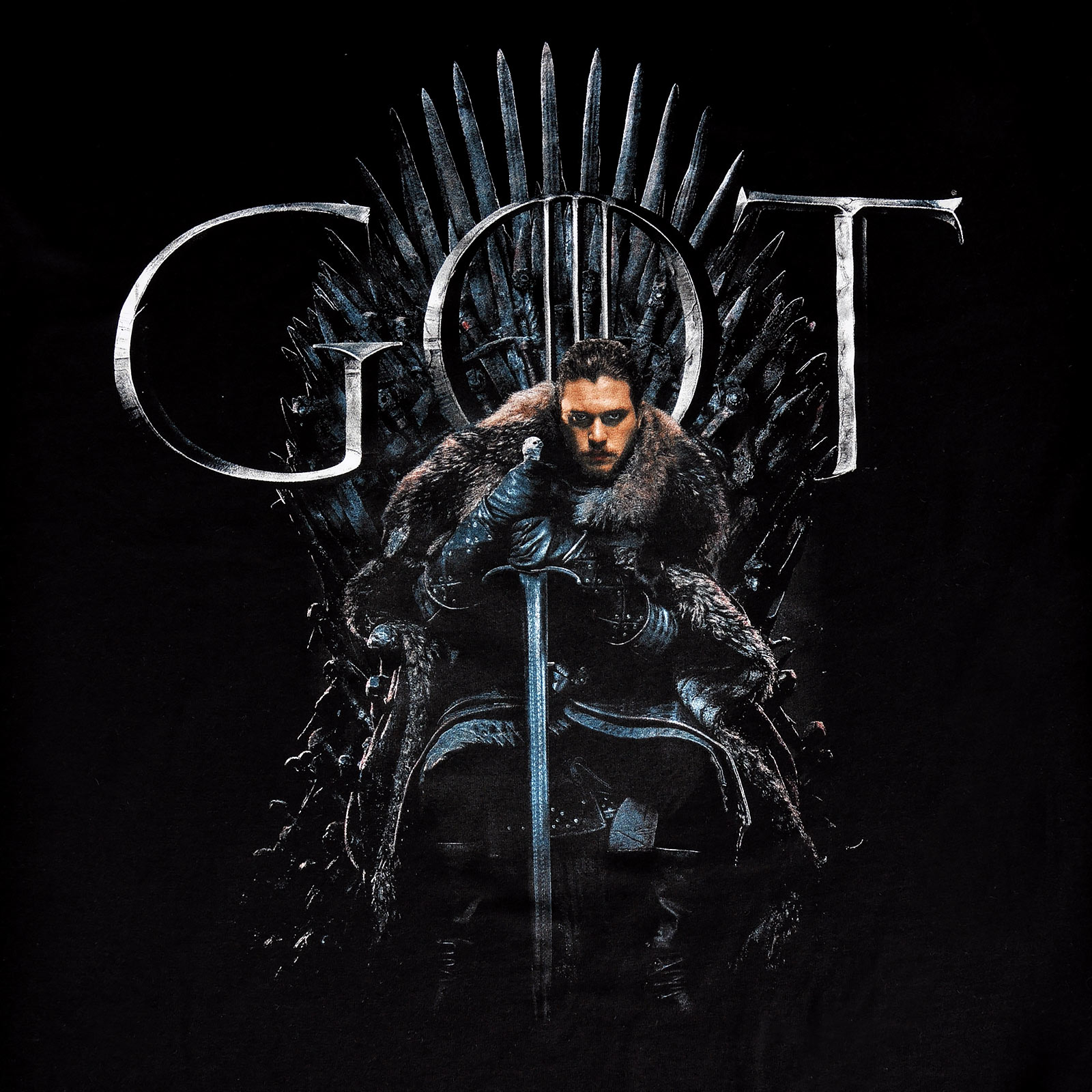 Game of Thrones - Jon Snow For The Throne T-Shirt schwarz