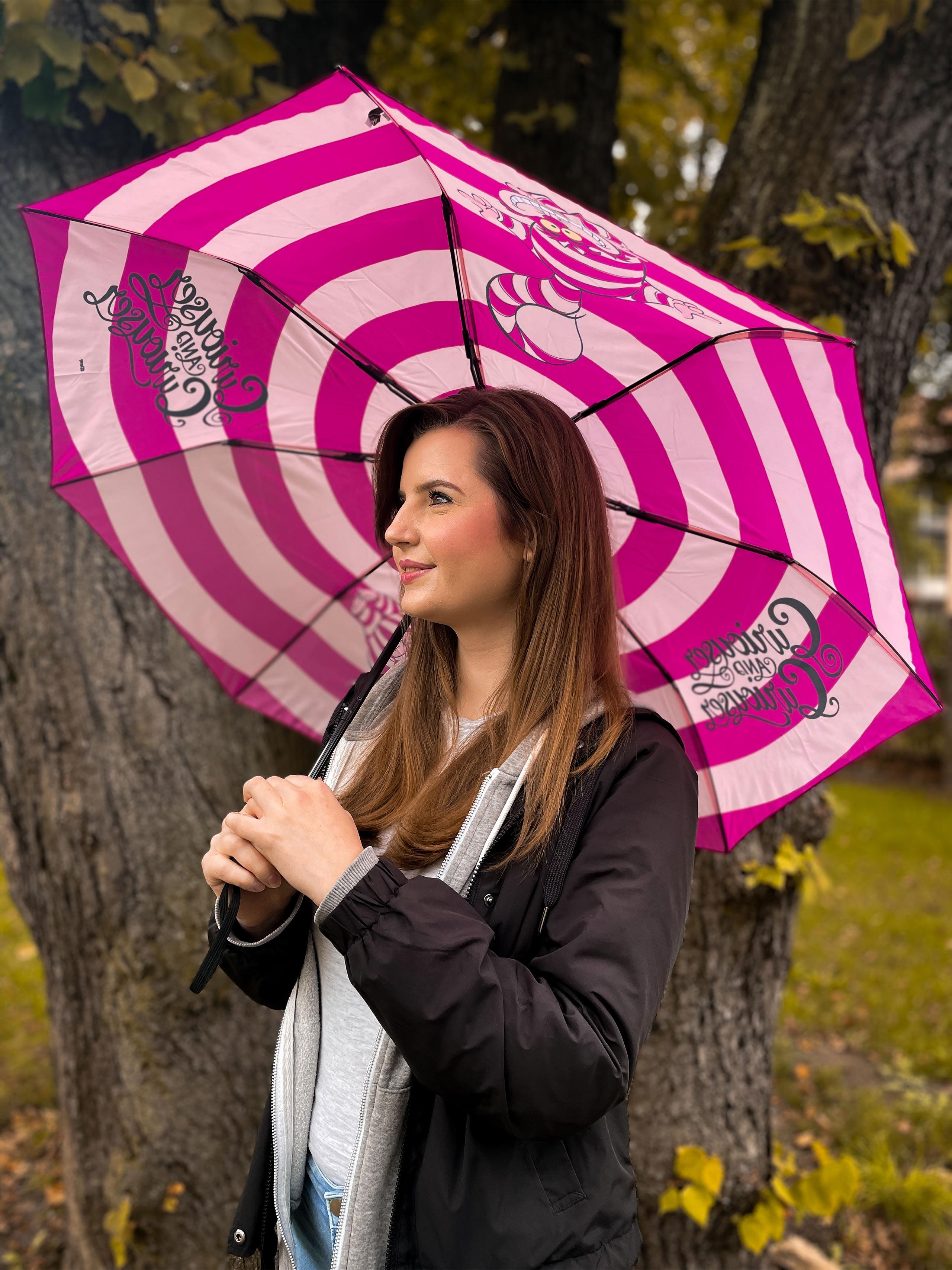 Alice im Wunderland - Grinsekatze Schirm