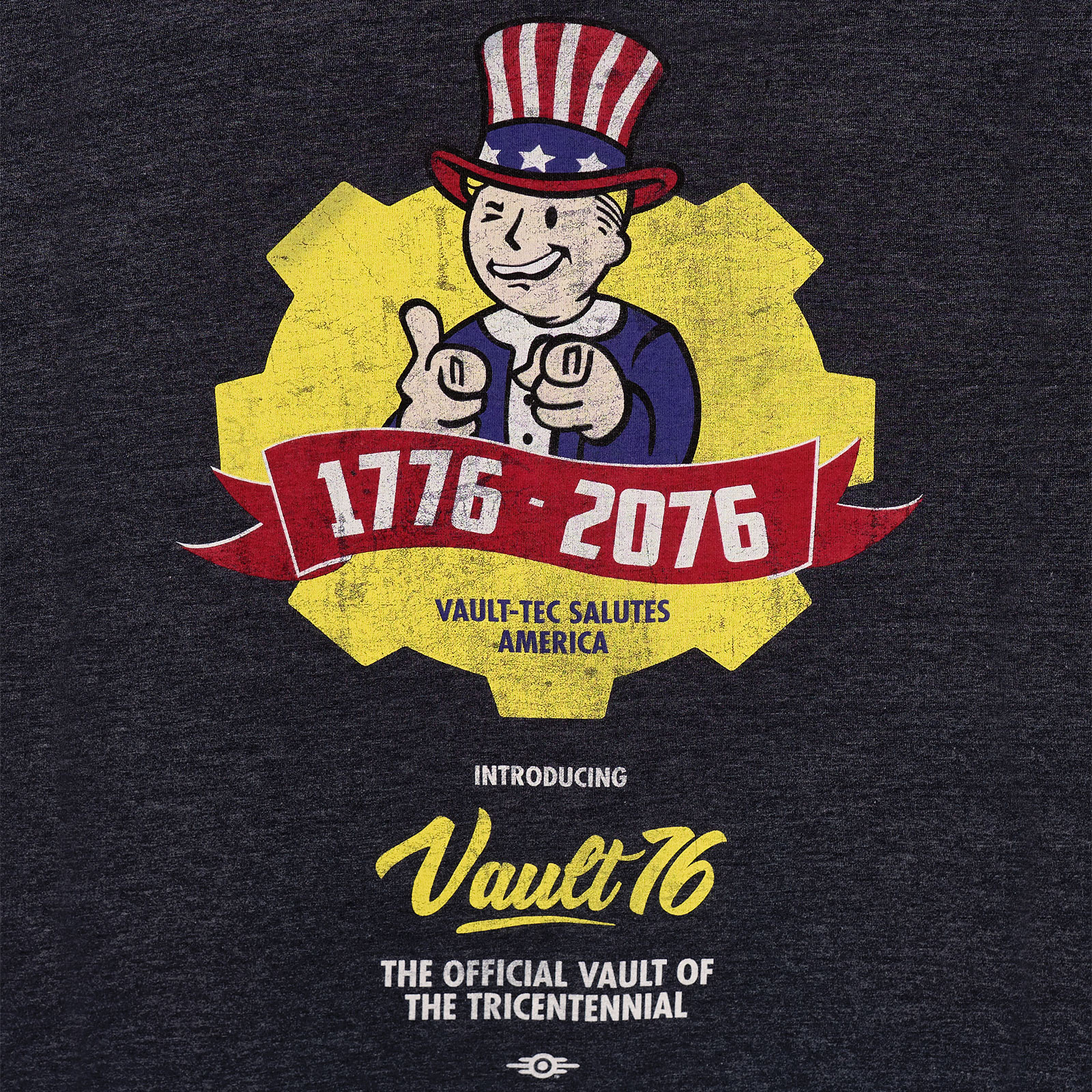 Fallout - Vault 76 Poster T-Shirt blau