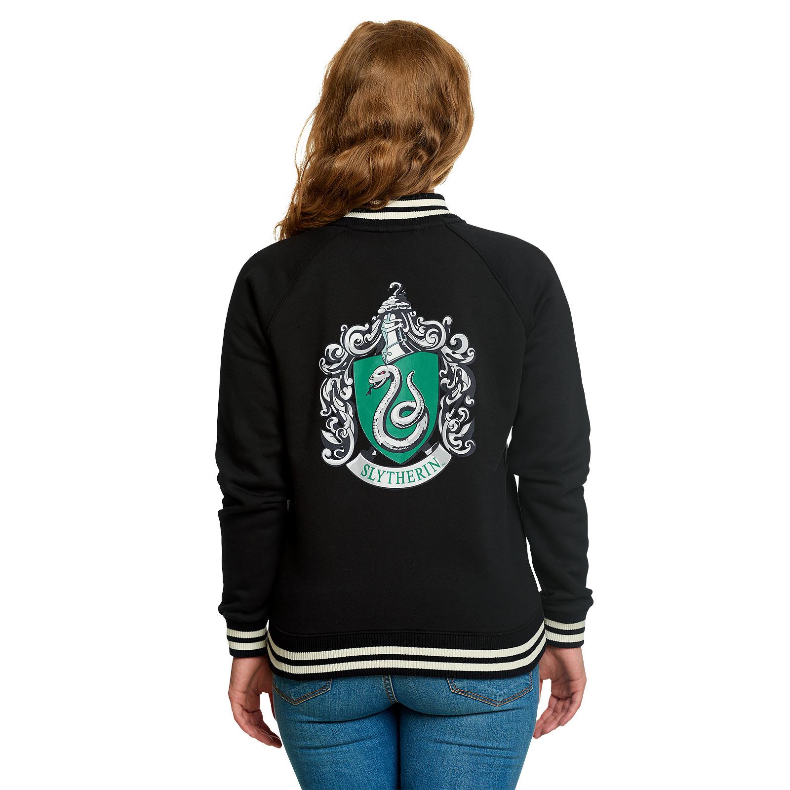 Harry Potter - Slytherin Wappen College Jacke Damen schwarz