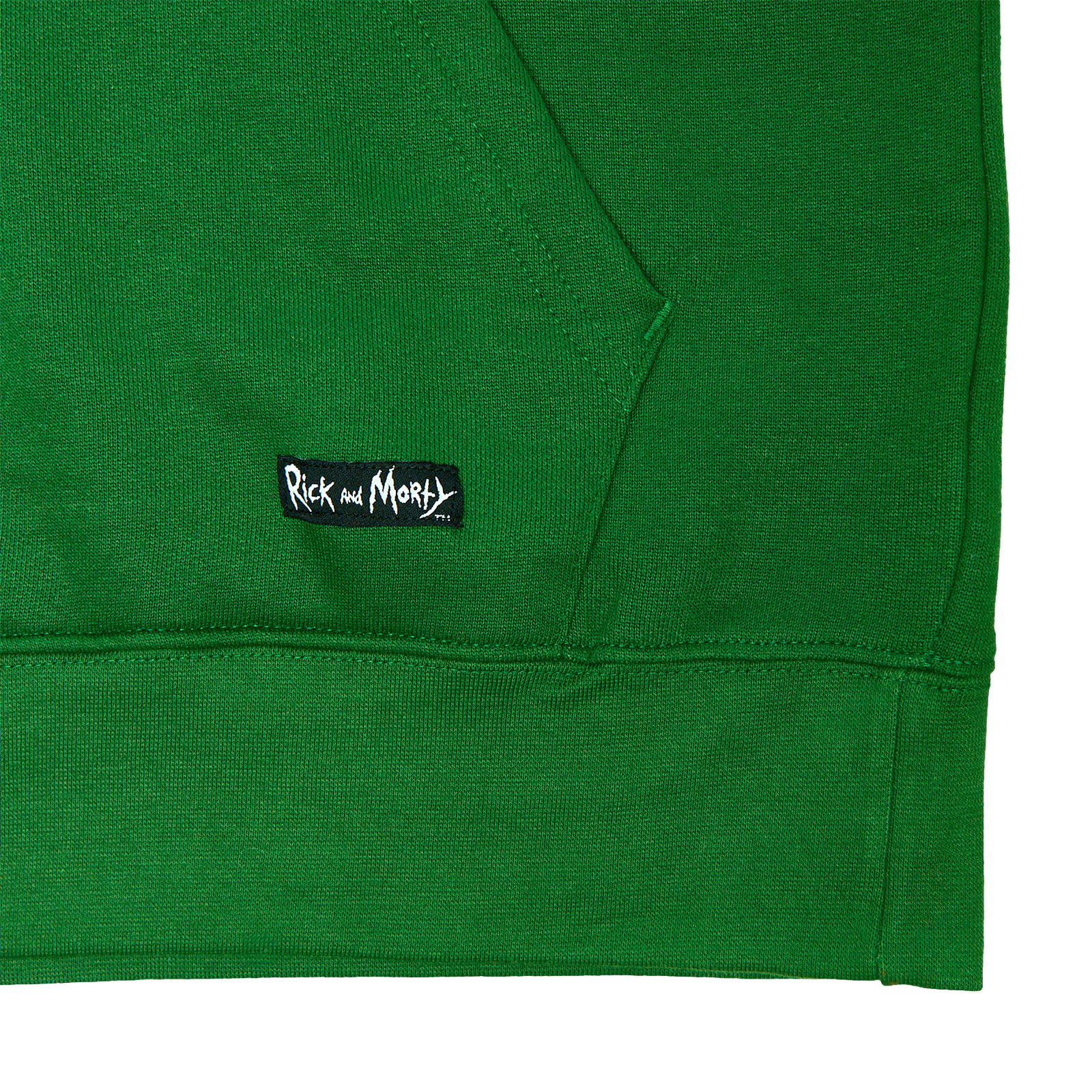 Rick and Morty - Pickle Rick Face Hoodie grün
