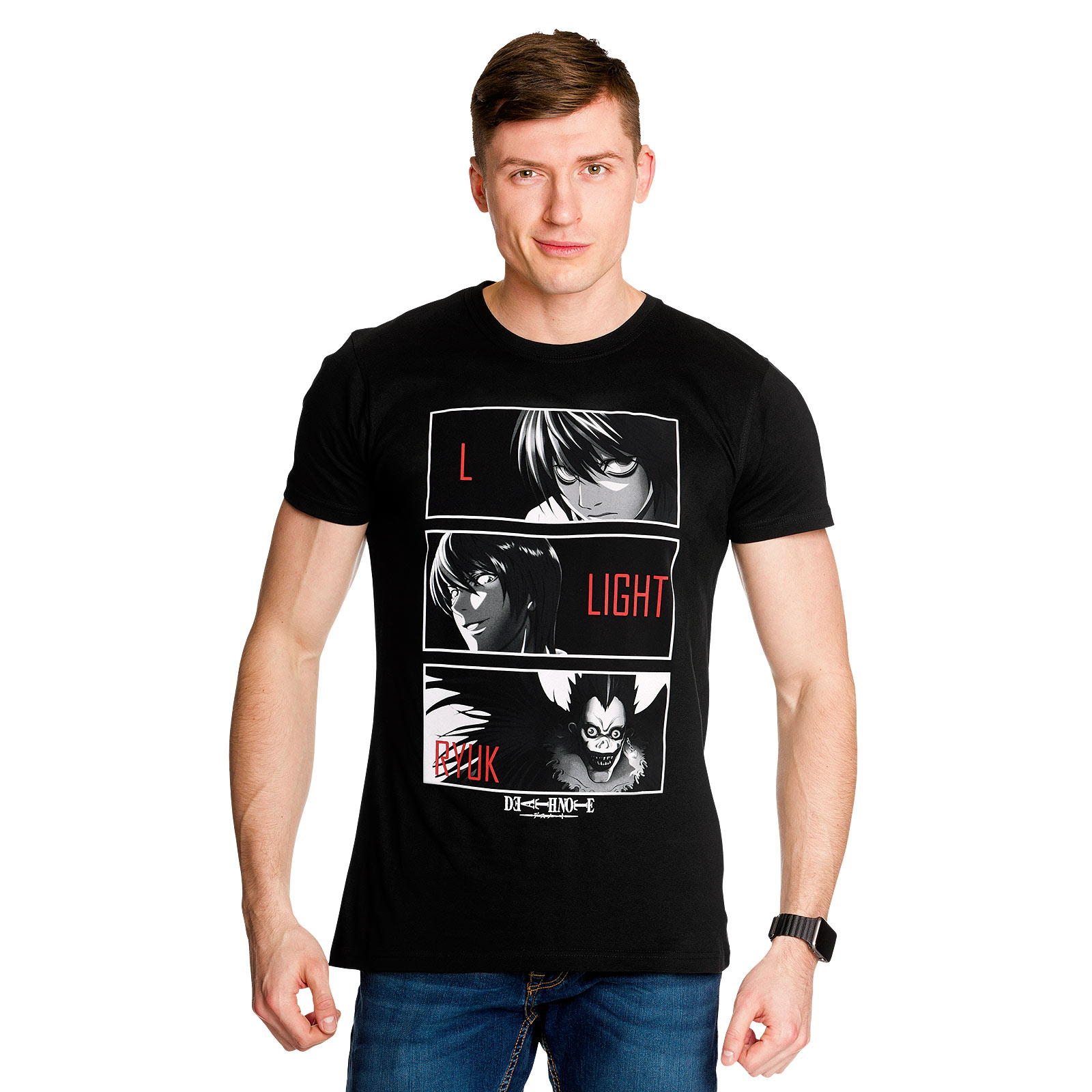 Death Note - Characters T-Shirt schwarz