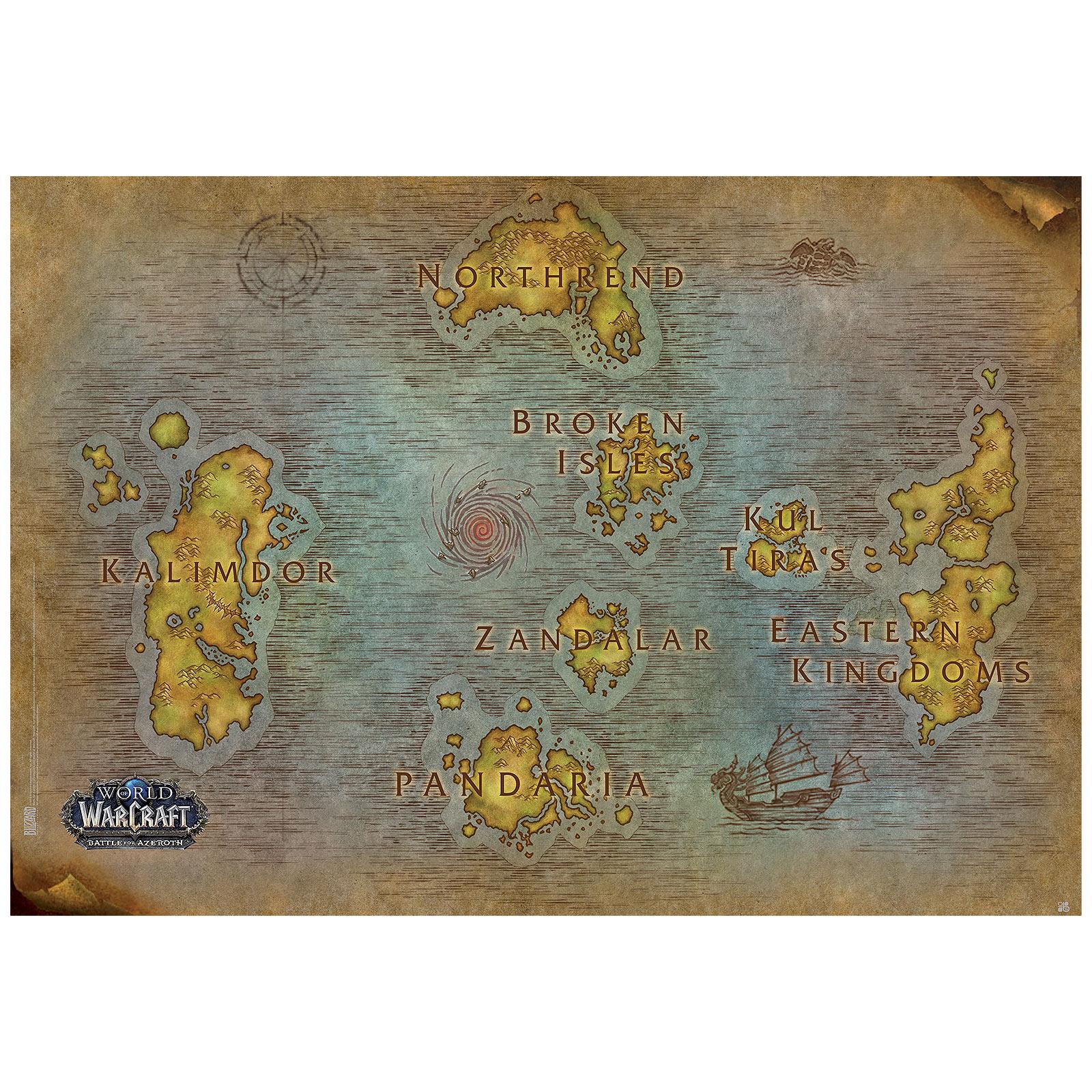 World of Warcraft - Karte von Azeroth Maxi Poster