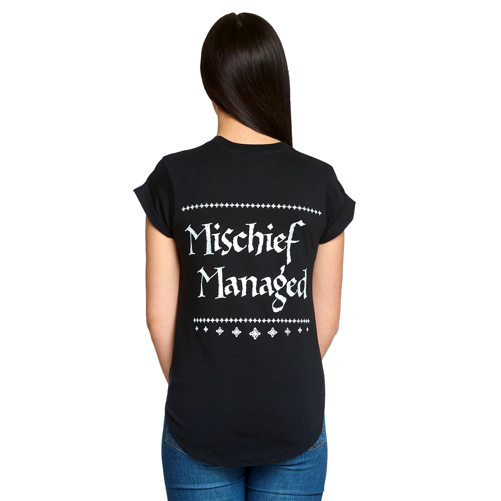 Harry Potter - Mischief Managed T-Shirt Damen Loose Fit schwarz