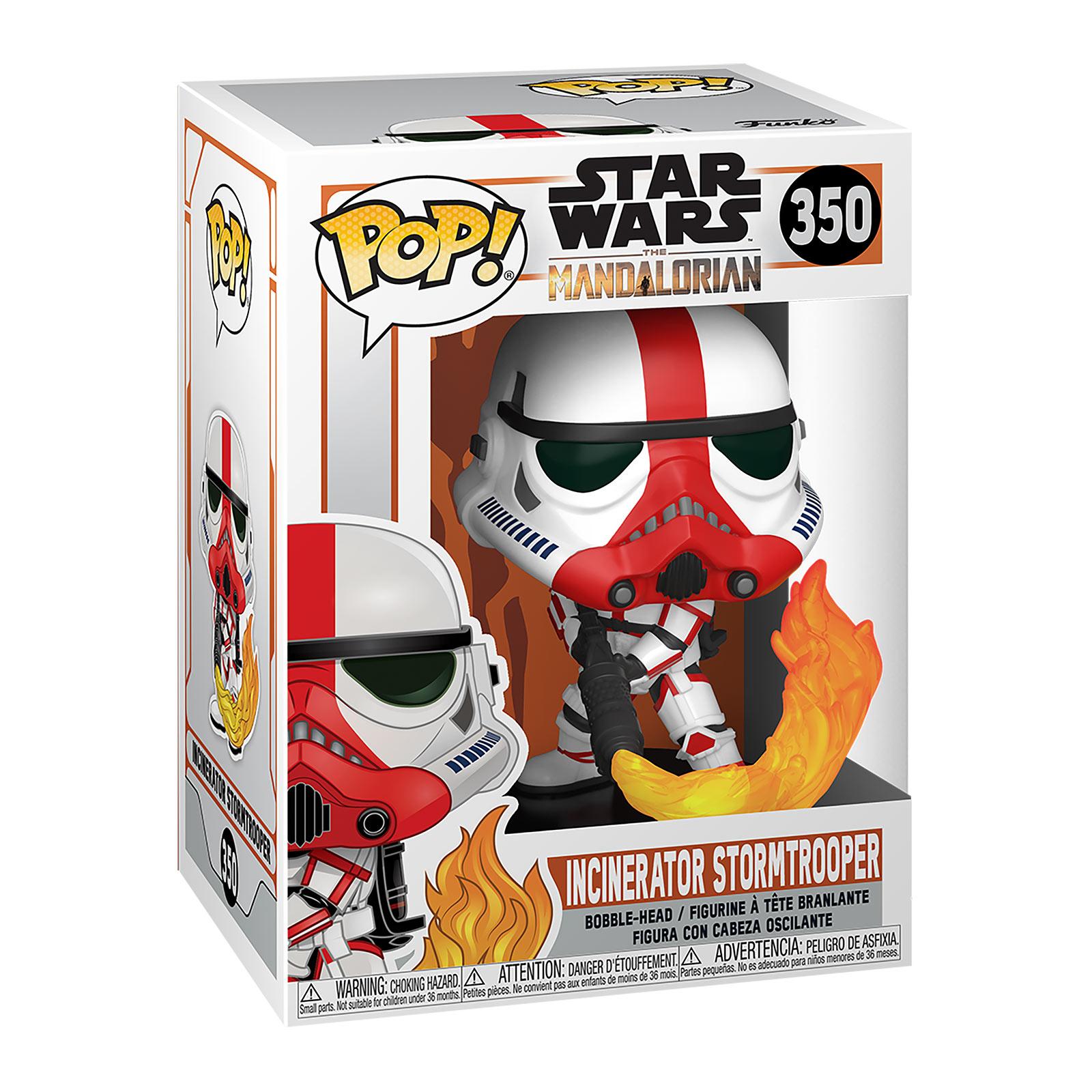 Incinerator Stormtrooper Funko Pop Wackelkopf-Figur - Star Wars The Mandalorian