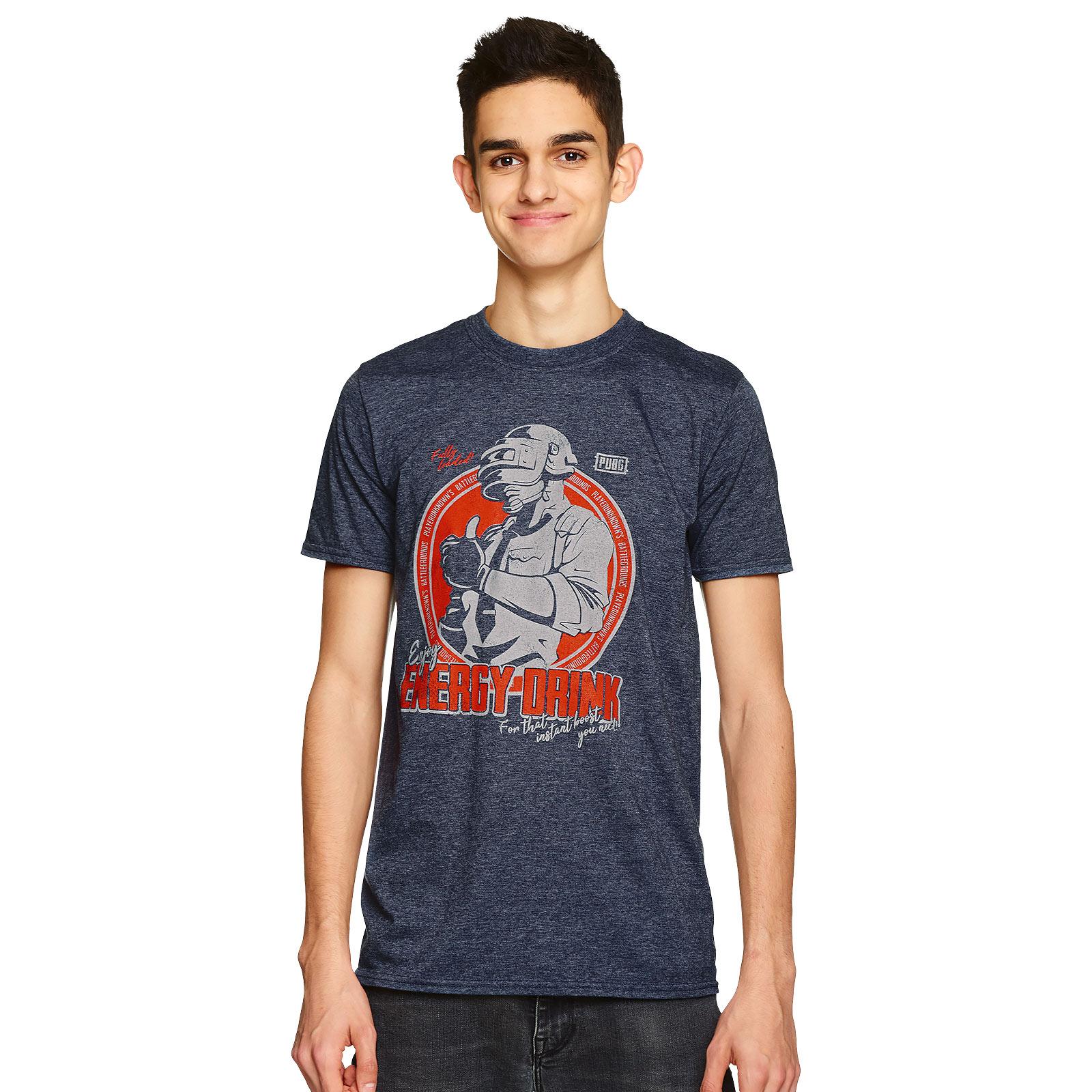 PUBG - Energy Drink T-Shirt blau