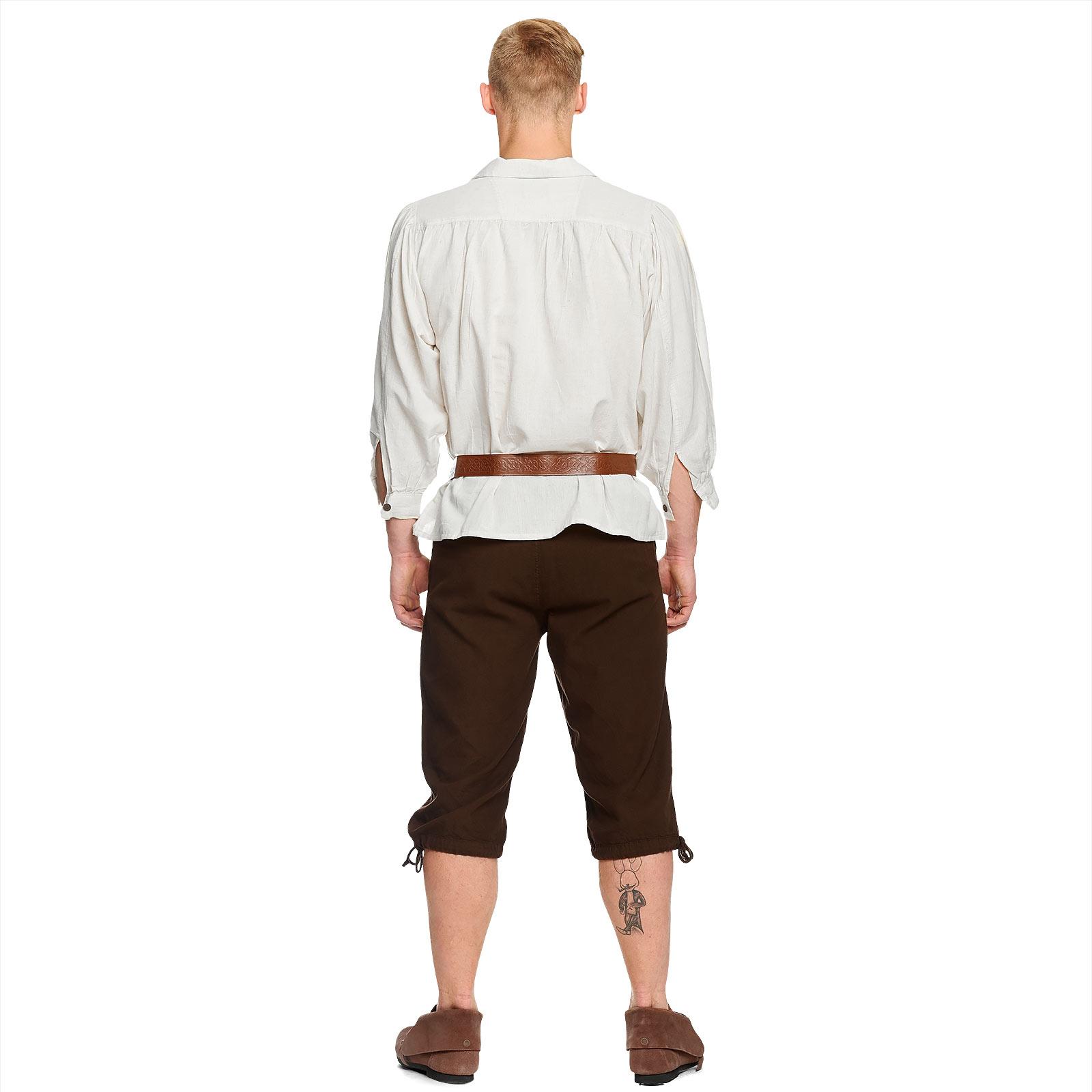 Mittelalter Kniebundhose mit Schnürung braun