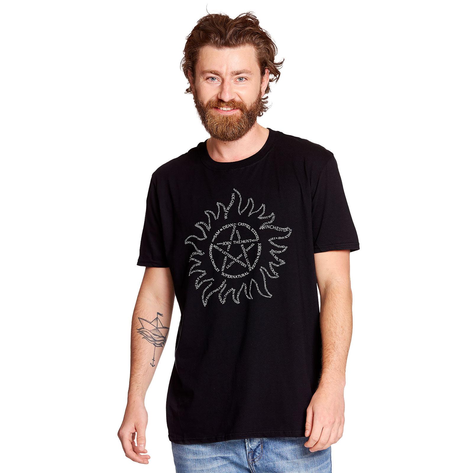 Supernatural - Anti Possession Symbol T-Shirt schwarz