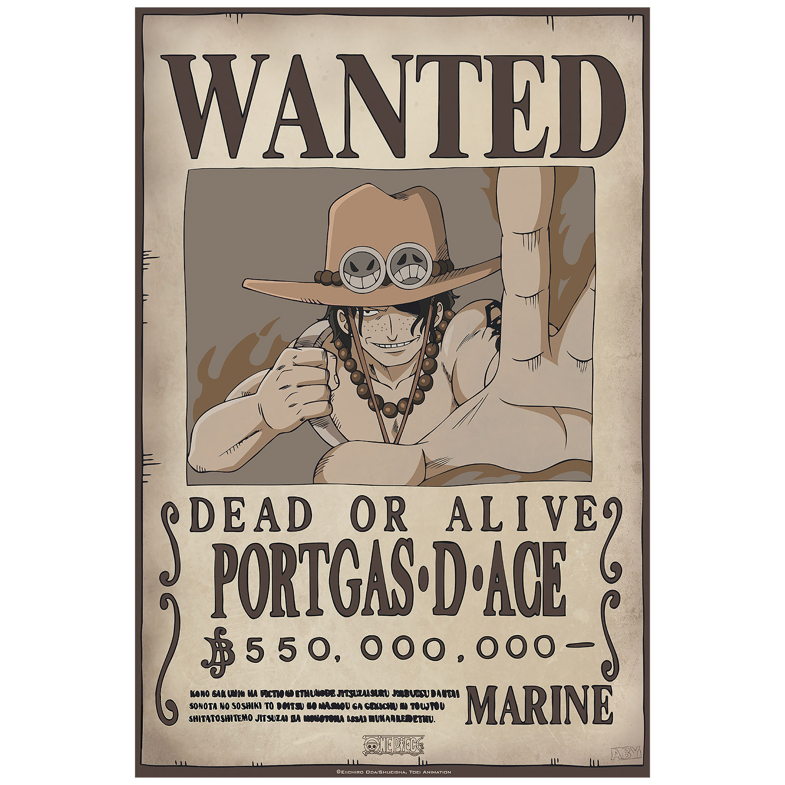 One Piece - Wanted Luffy & Ace Poster 2er Set