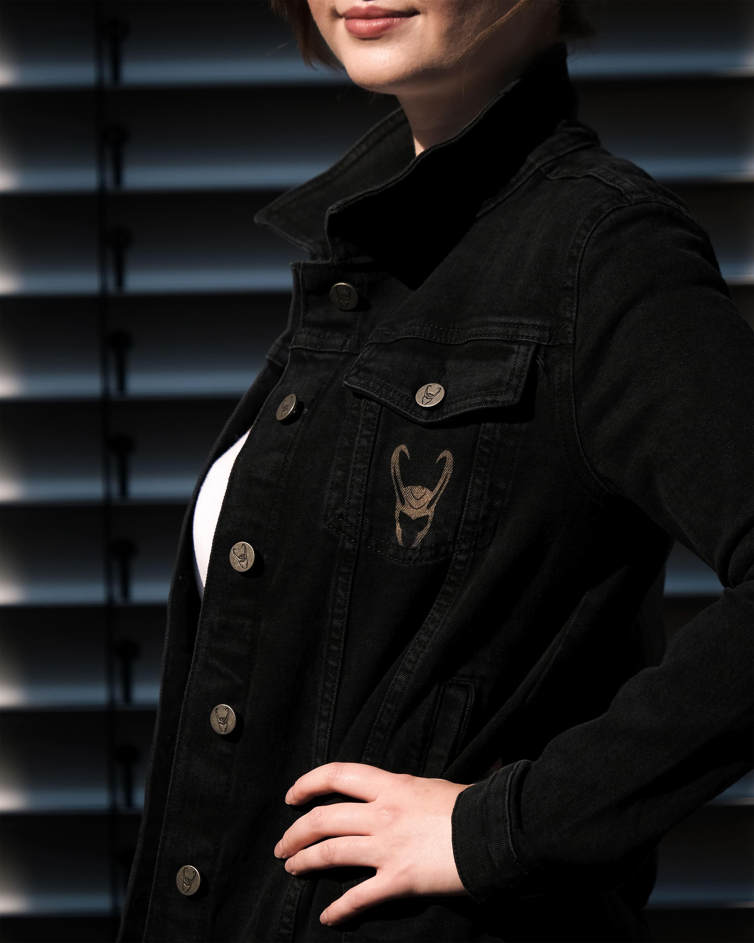 Loki - Logo Jeansjacke Damen schwarz