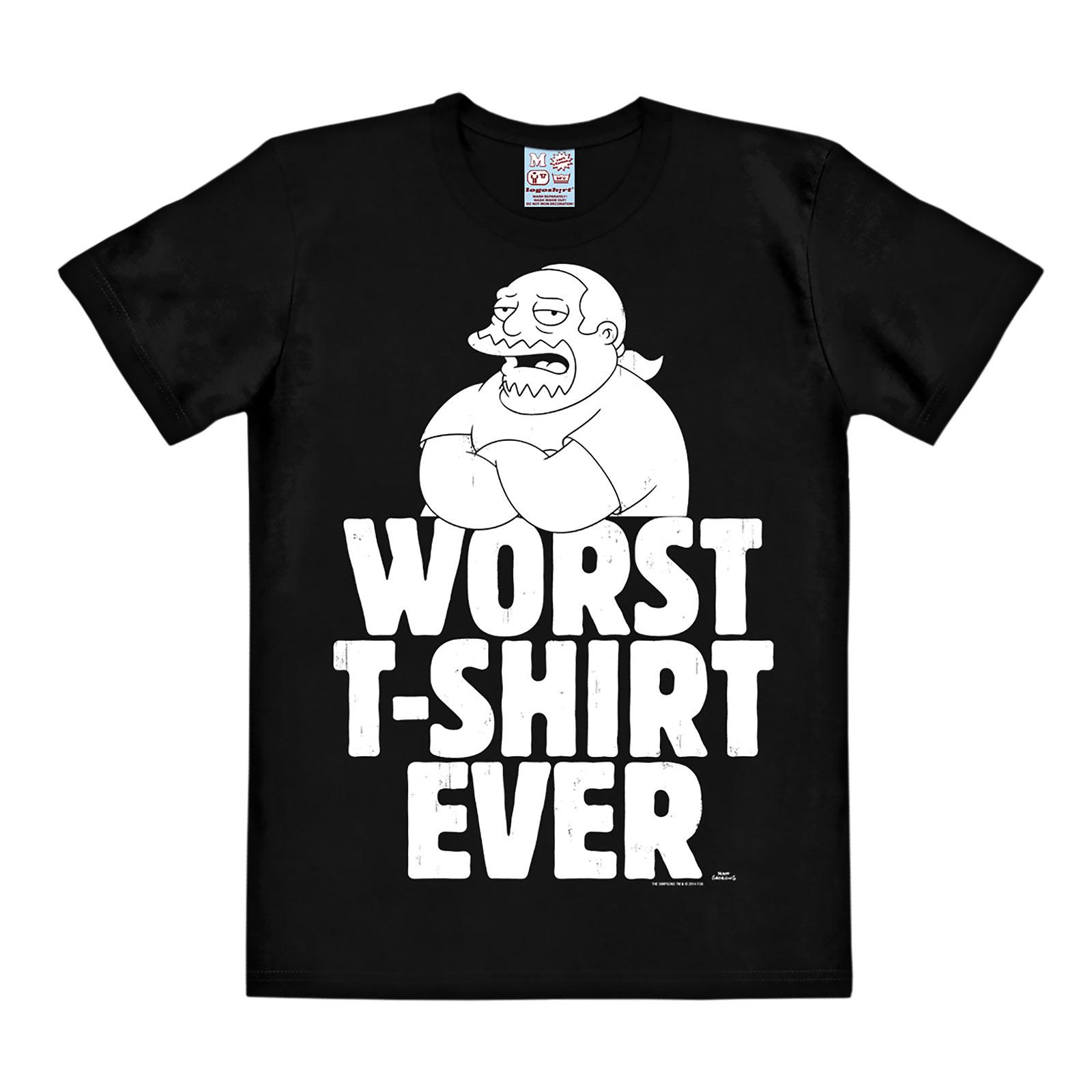 Simpsons - Worst T-Shirt Ever schwarz