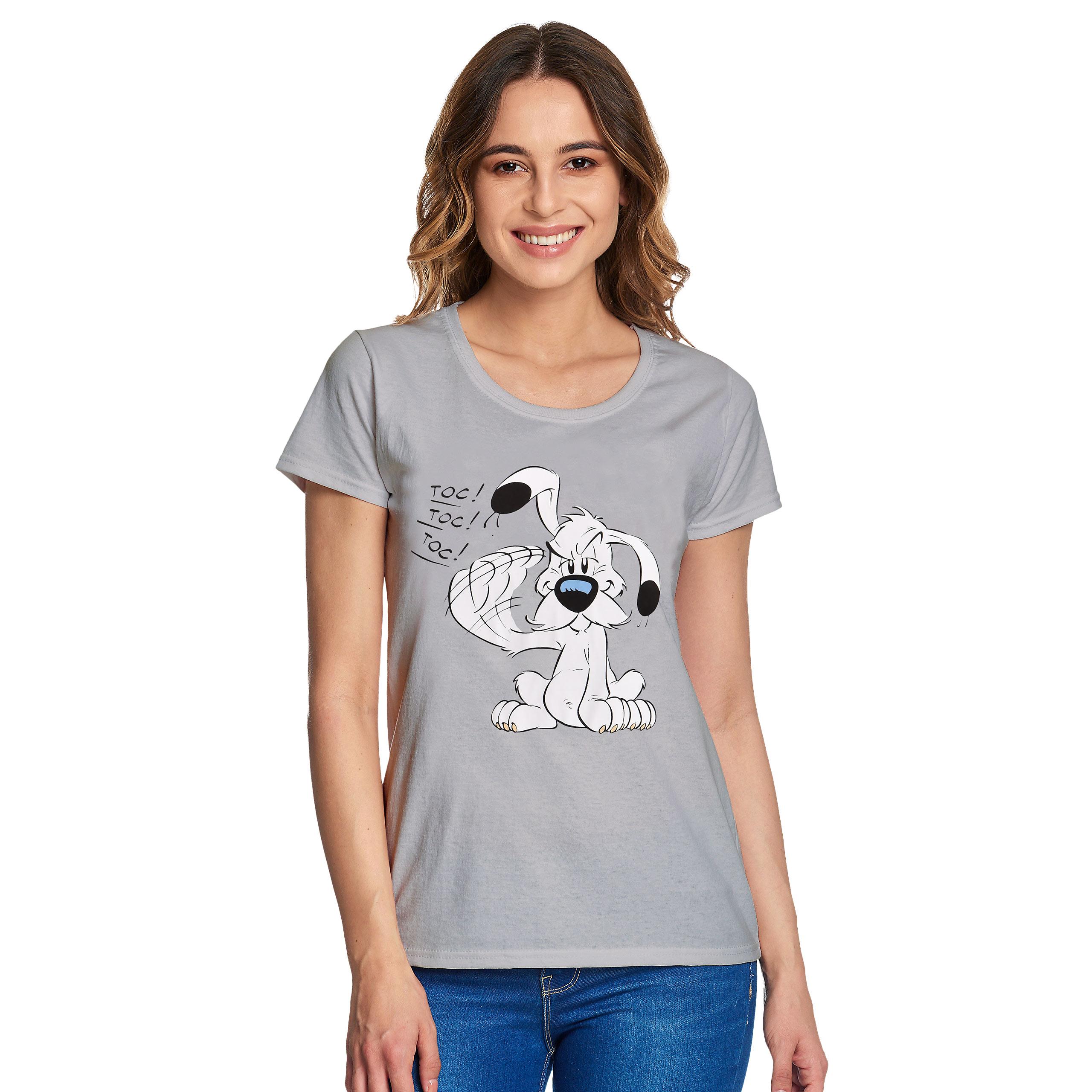 Asterix - Idefix T-Shirt Damen grau