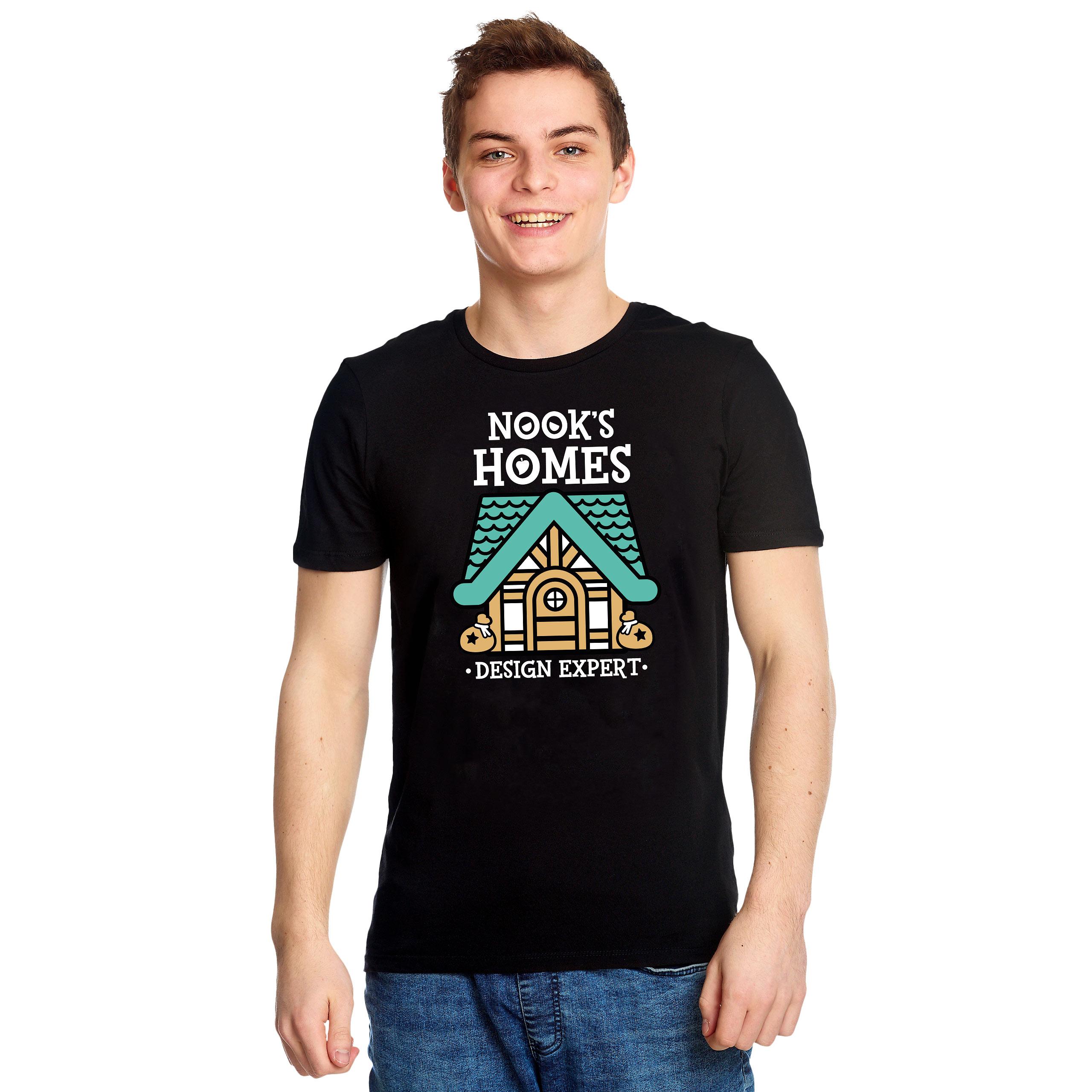 Nook's Homes T-Shirt für Animal Crossing Fans schwarz