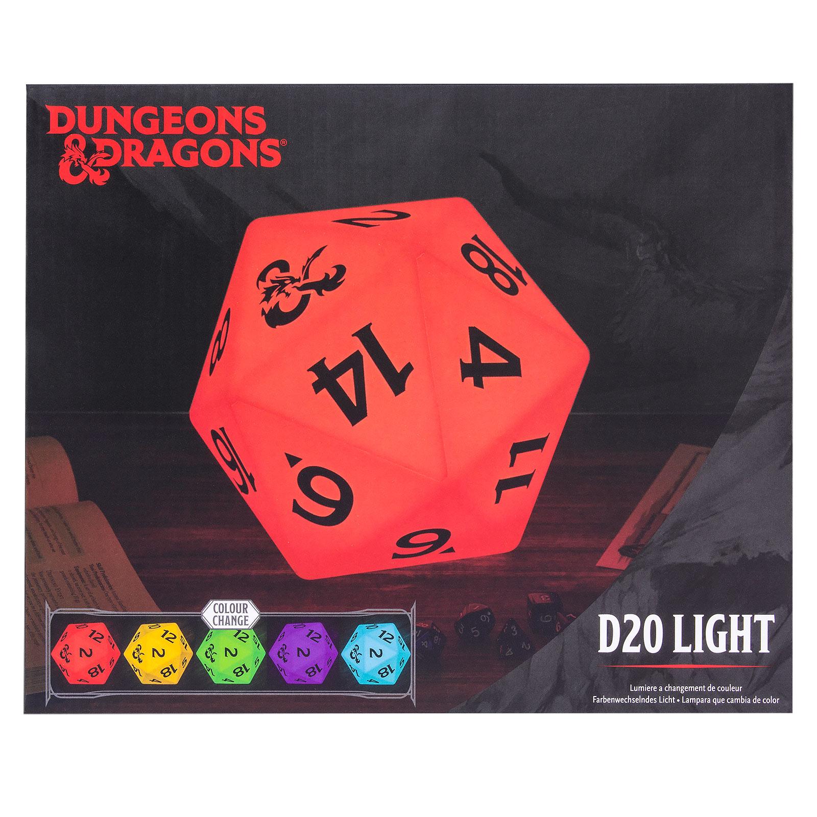Dungeons & Dragons - D20 Würfel Tischlampe