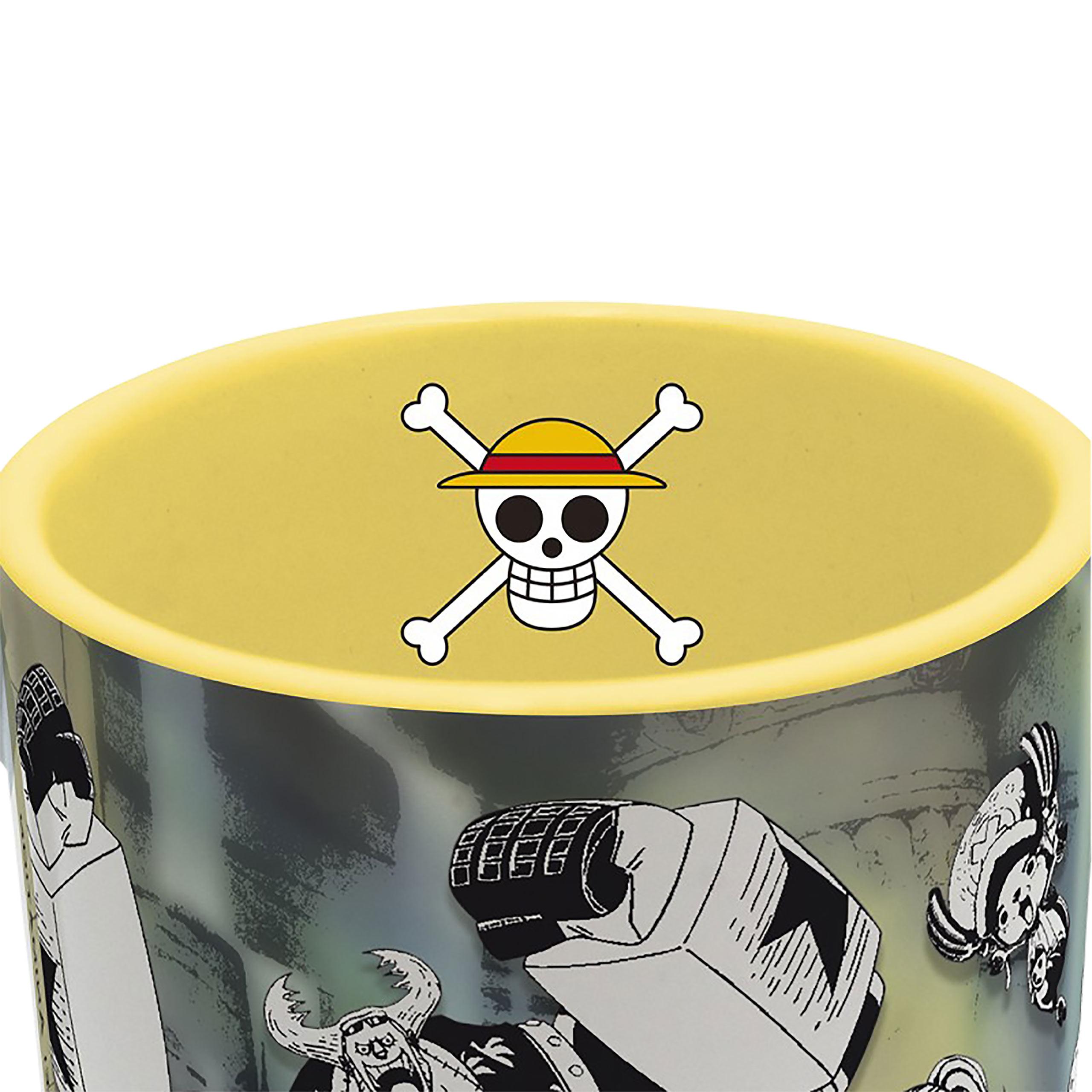 One Piece - Strohhutbande mit Schatz Tasse