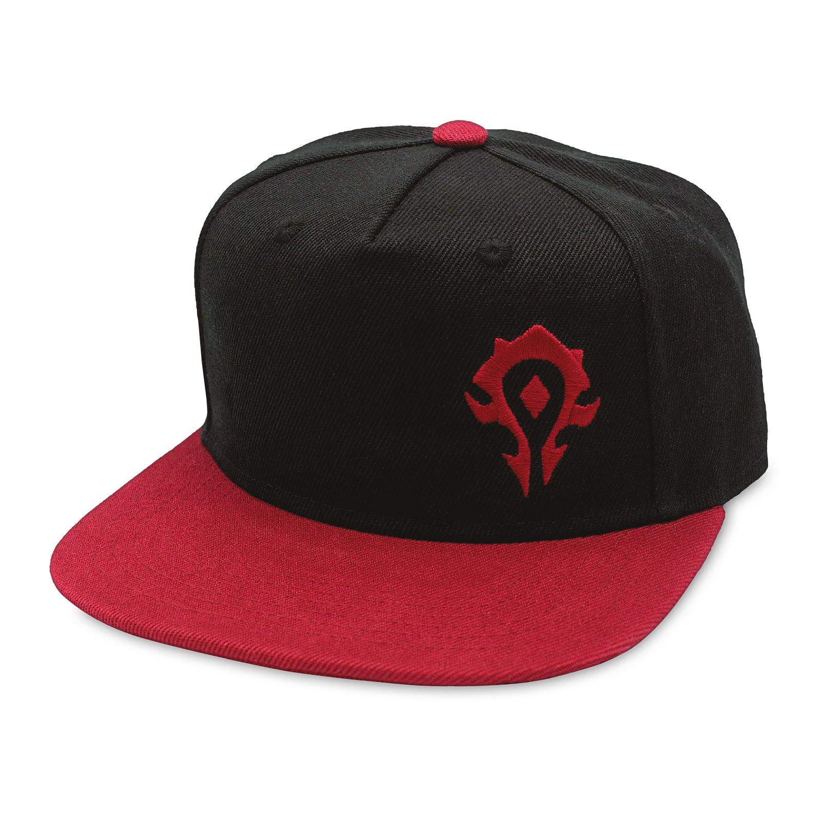 World of Warcraft - Horde Logo Snapback Cap schwarz-rot