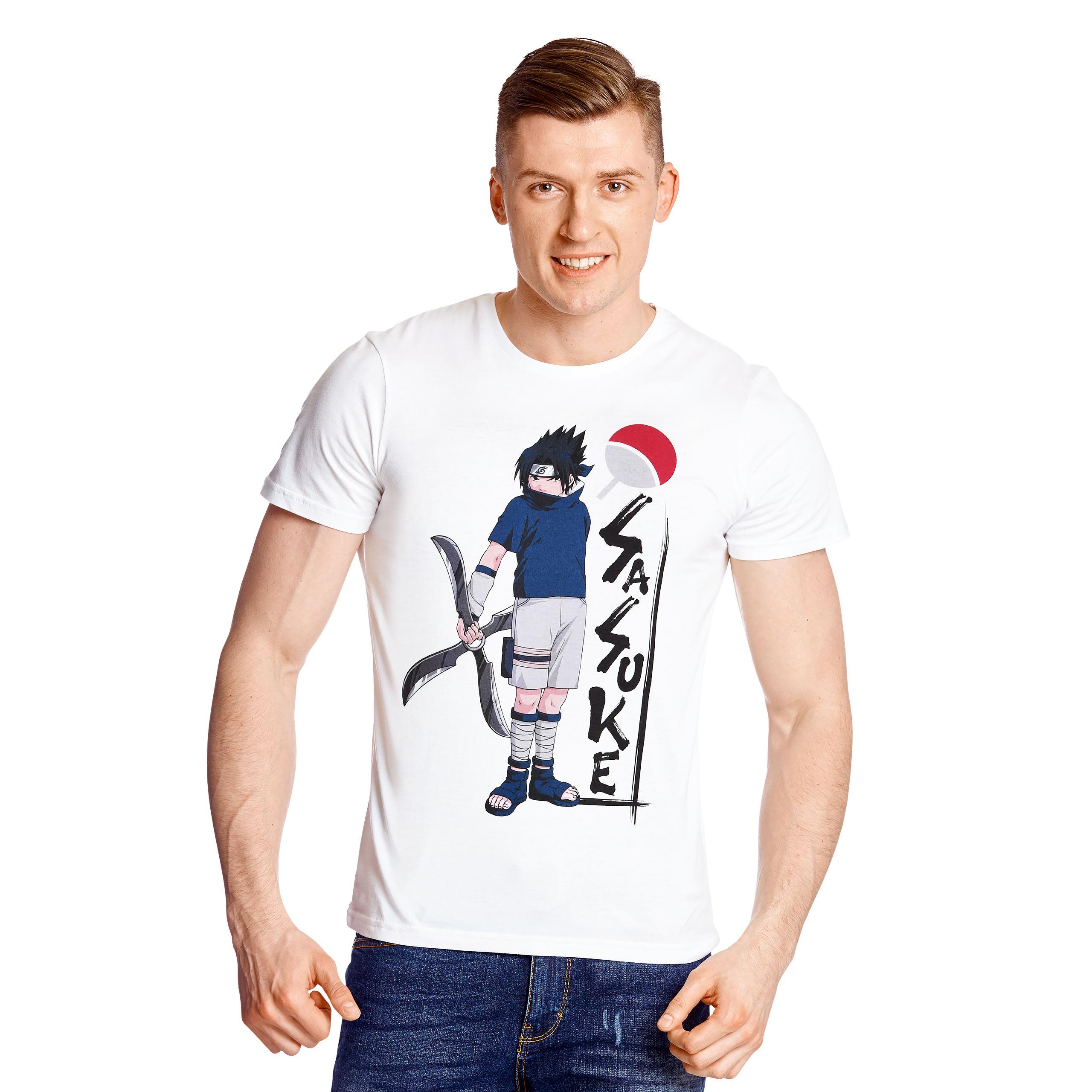 Naruto - Sasuke Uchiha T-Shirt weiß