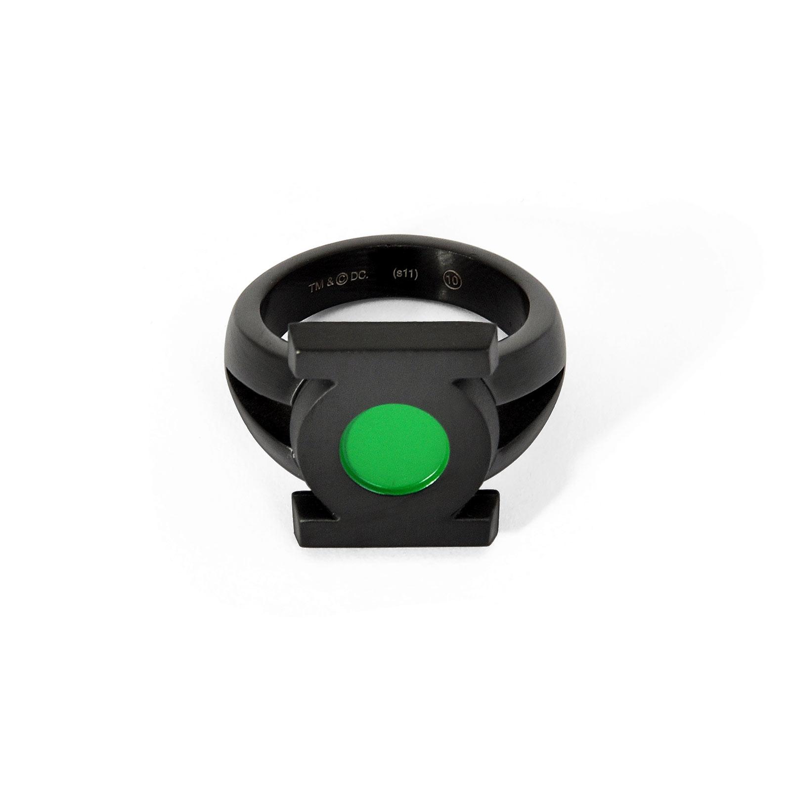 Green Lantern - Emblem Ring schwarz