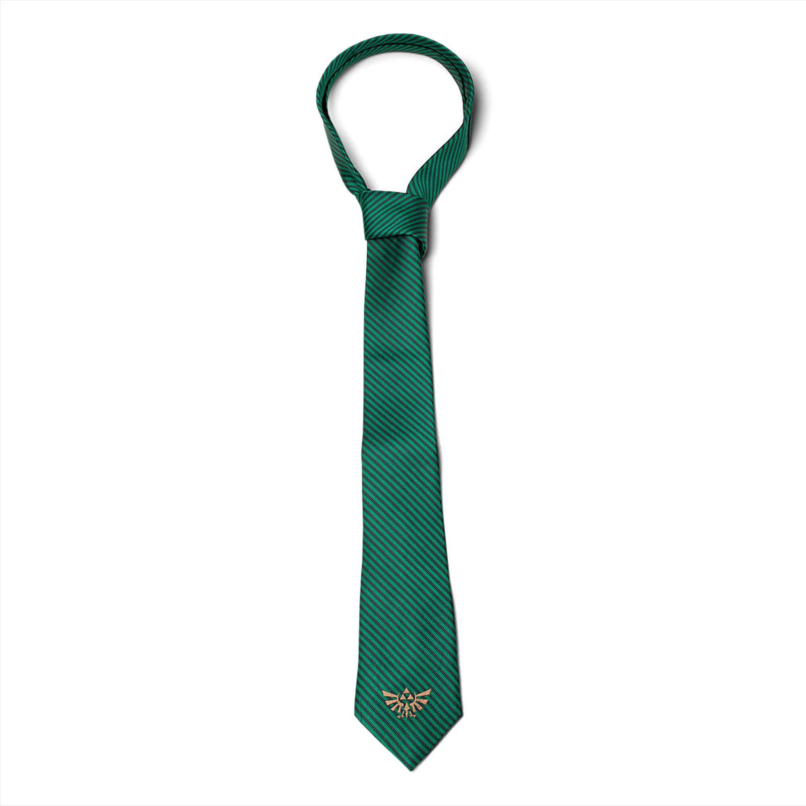 Zelda - Hyrule Logo Krawatte grün