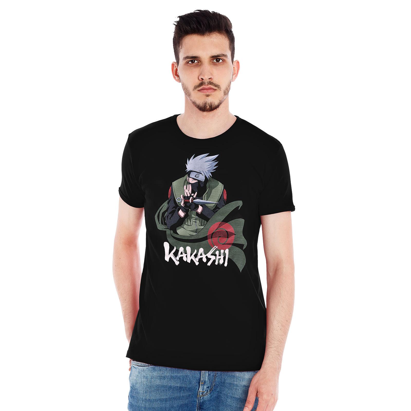 Naruto - Kakashi Knife T-Shirt schwarz
