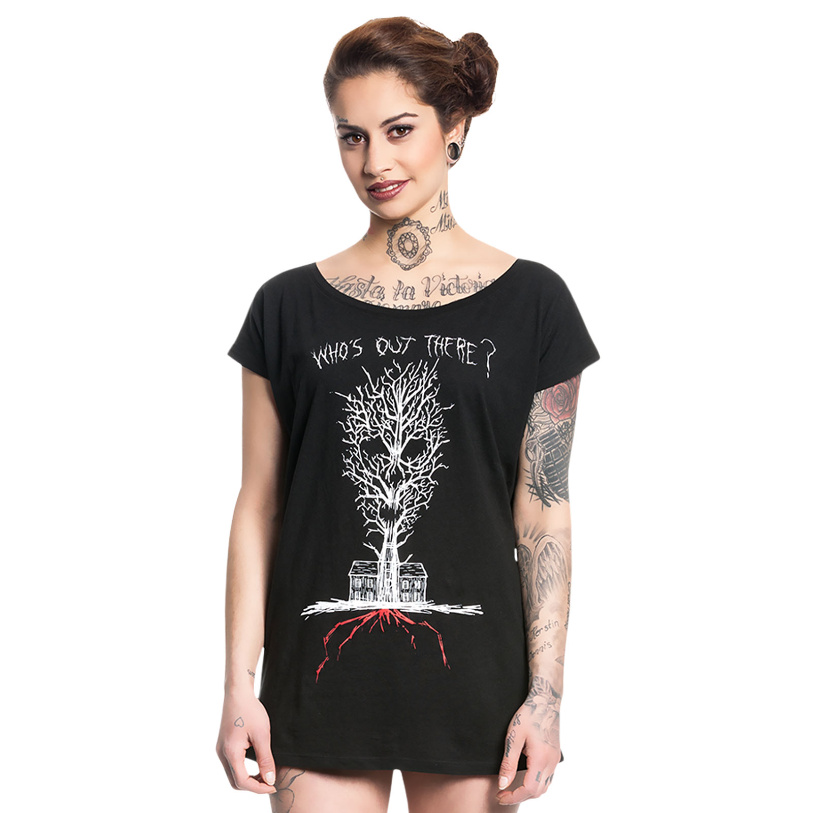 American Horror Story - Who is Out There Girlie Shirt Loose Fit