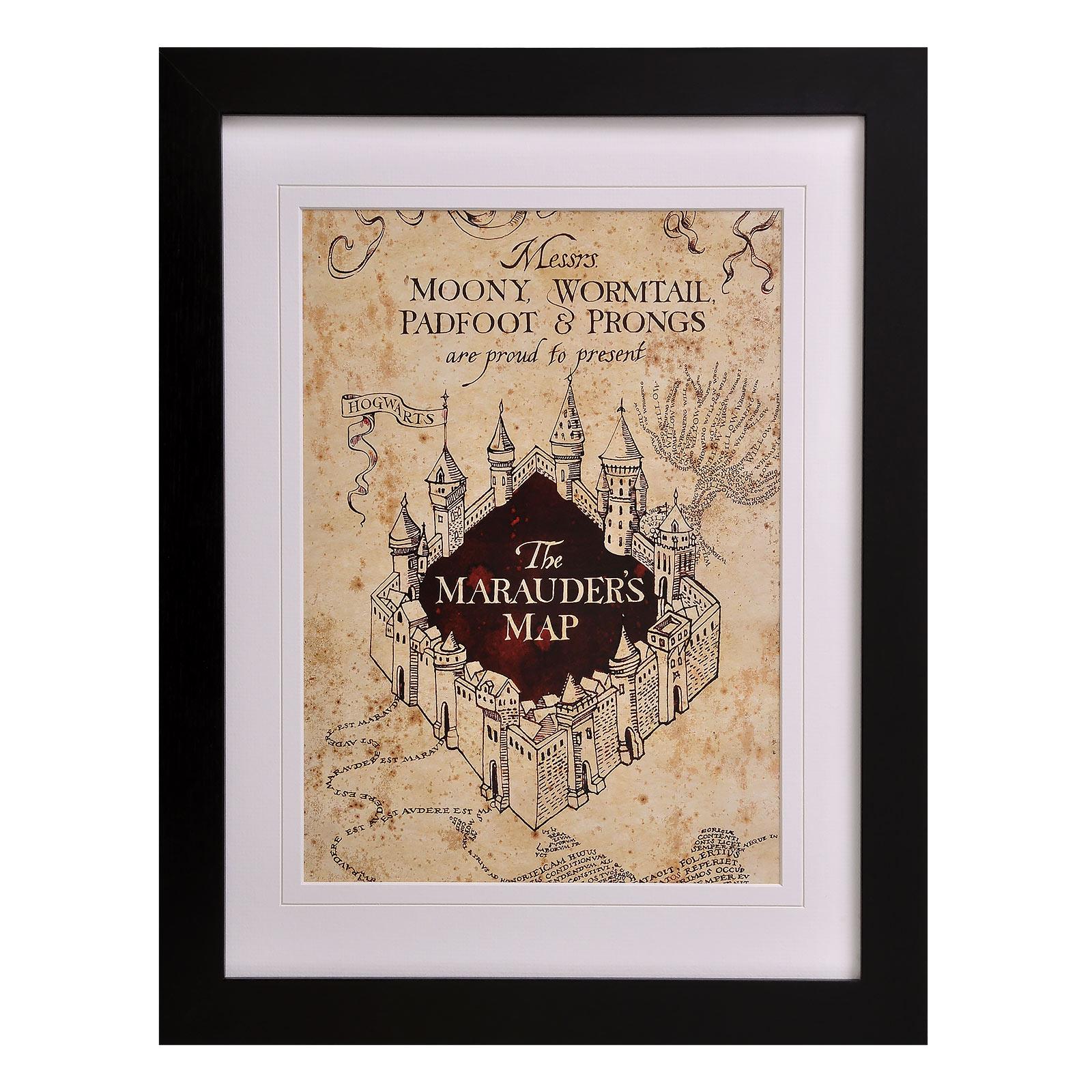 Harry Potter - Karte des Rumtreibers Wandbild