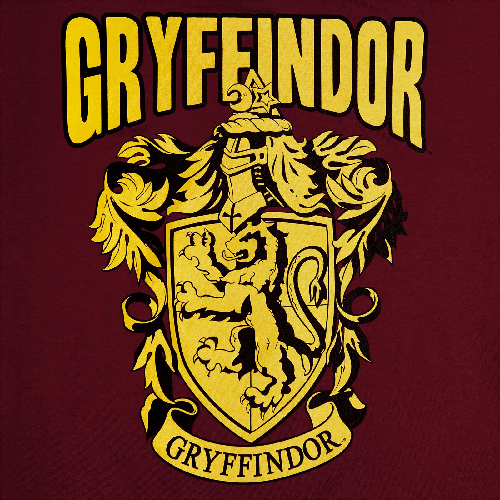 Harry Potter - Gryffindor Wappen T-Shirt rot