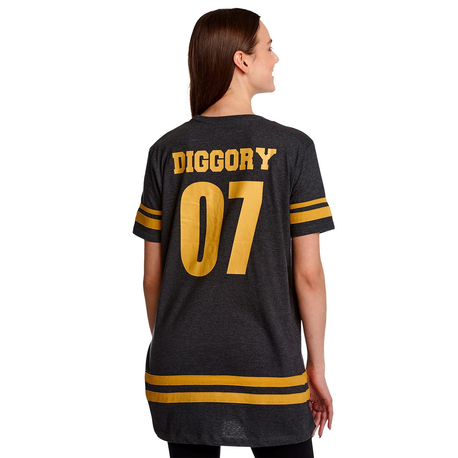 Hufflepuff Sucher Diggory Oversize T-Shirt Damen grau - Harry Potter