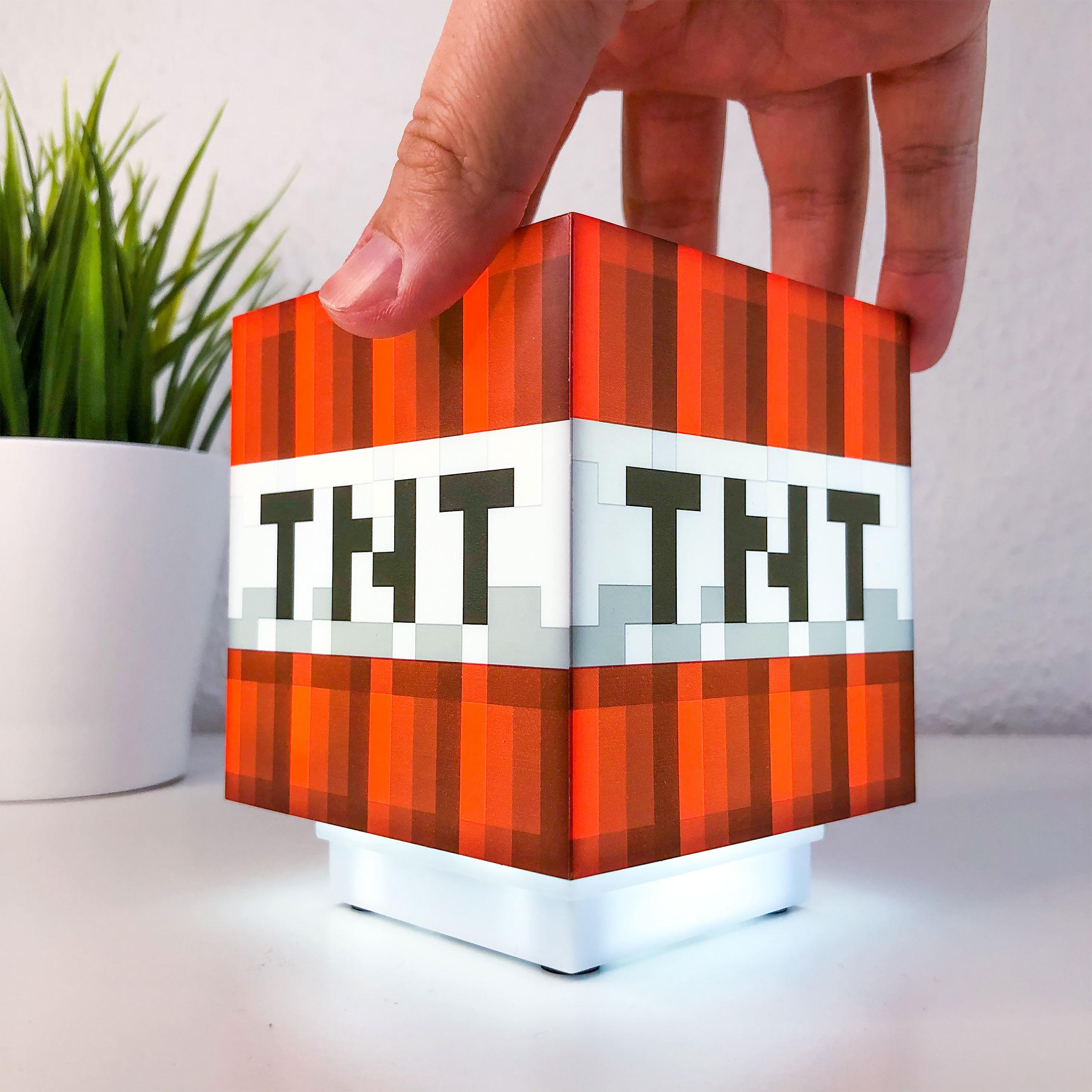 Minecraft - TNT Block Tischlampe mit Sound