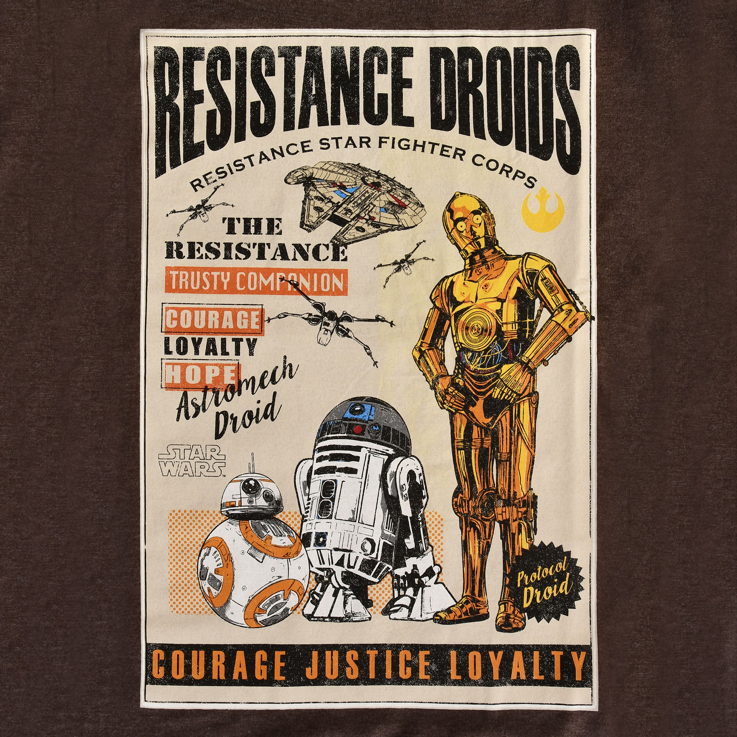 Star Wars - Resistance Droids T-Shirt braun