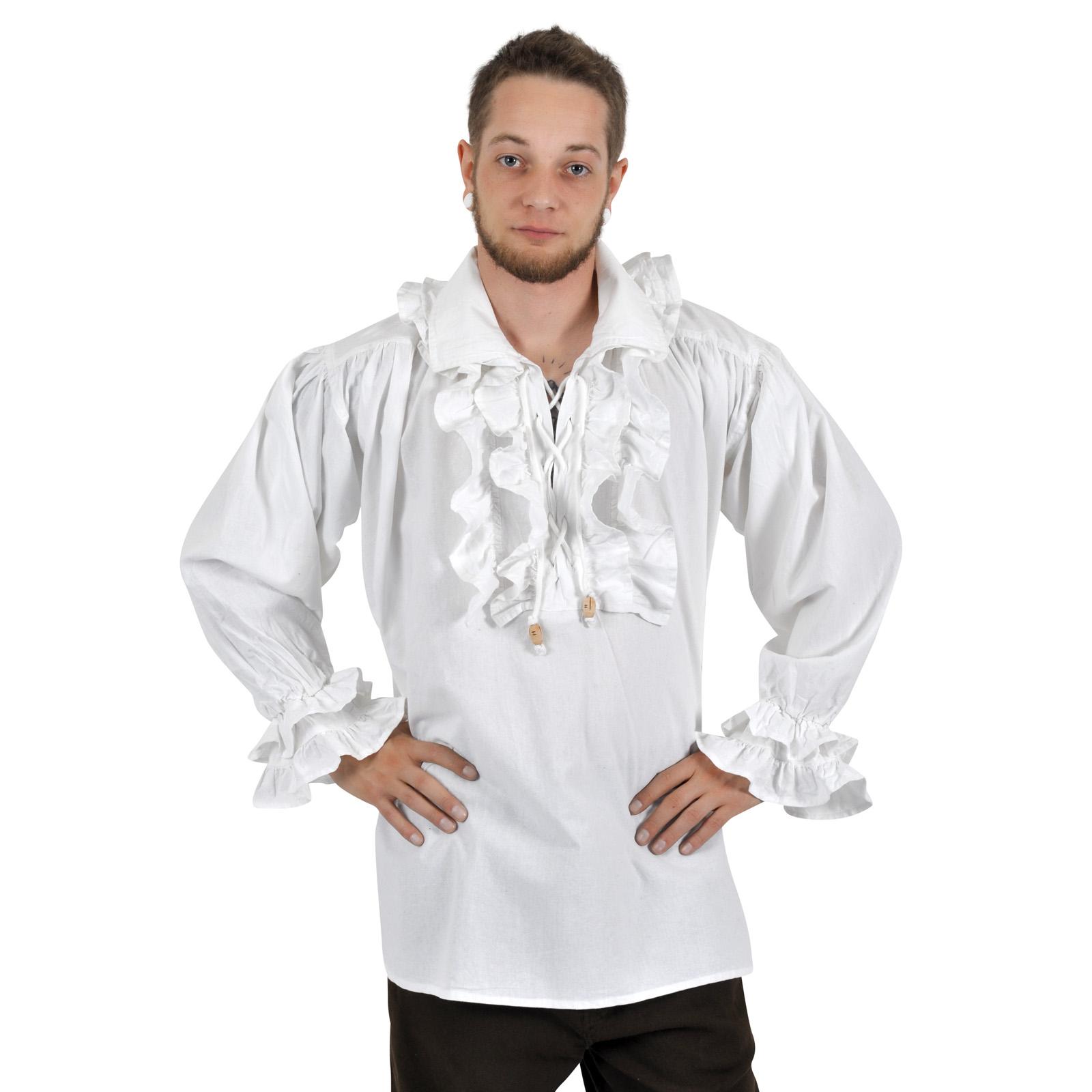 Laurenz Rüschenhemd weiß