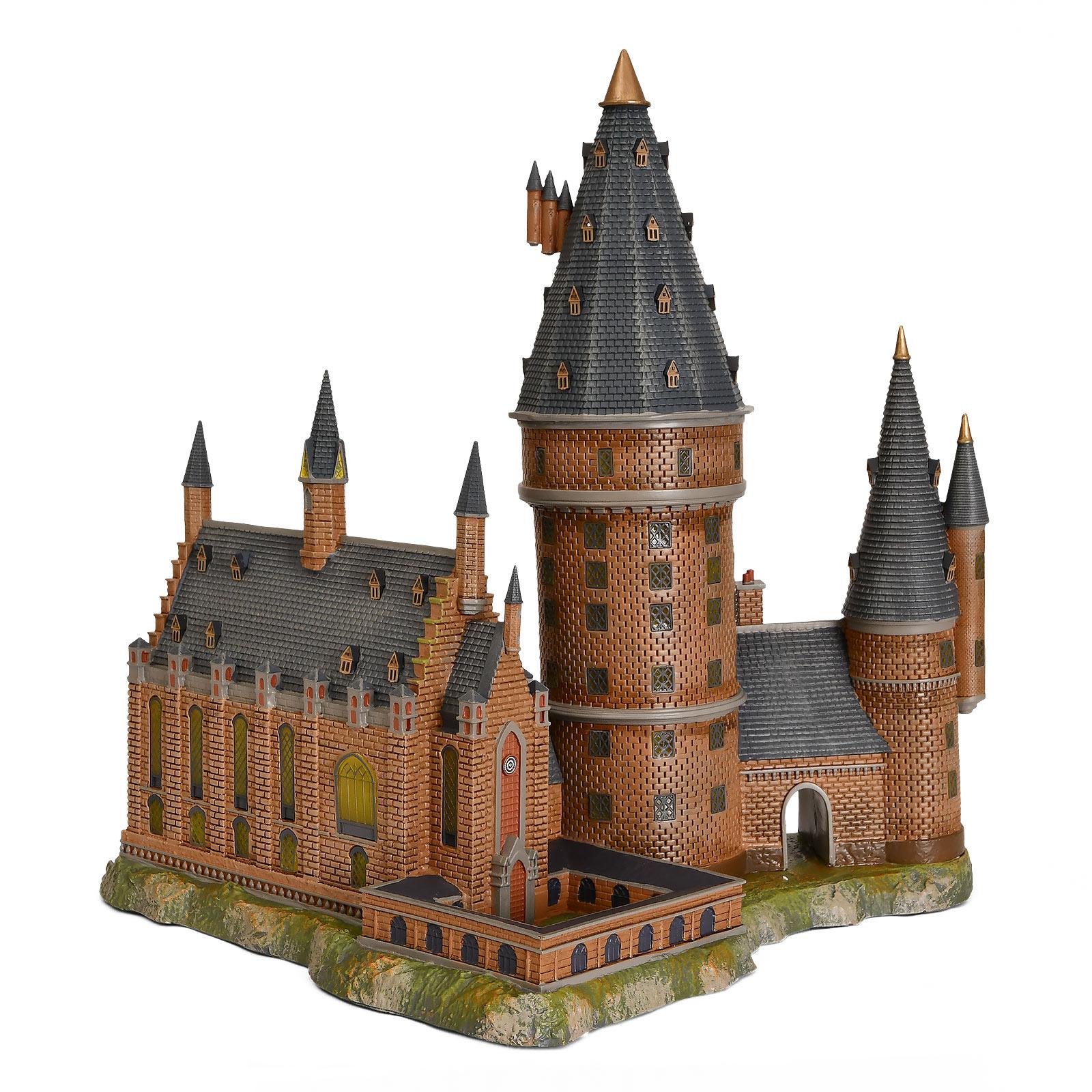 Hogwarts Große Halle mit Hauptturm Miniatur Replik mit Beleuchtung - Harry Potter