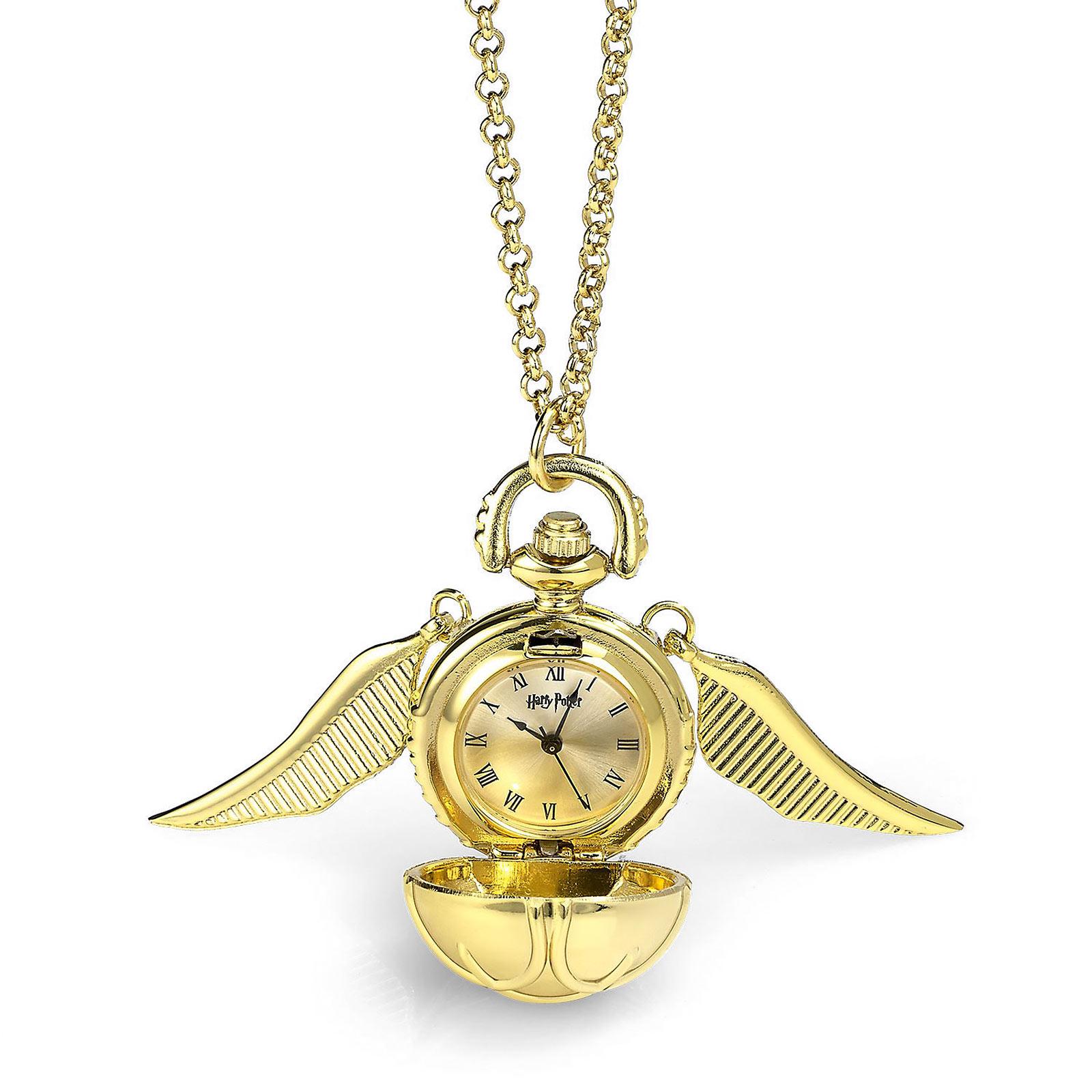 Harry Potter - Goldener Schnatz Kette mit Uhr