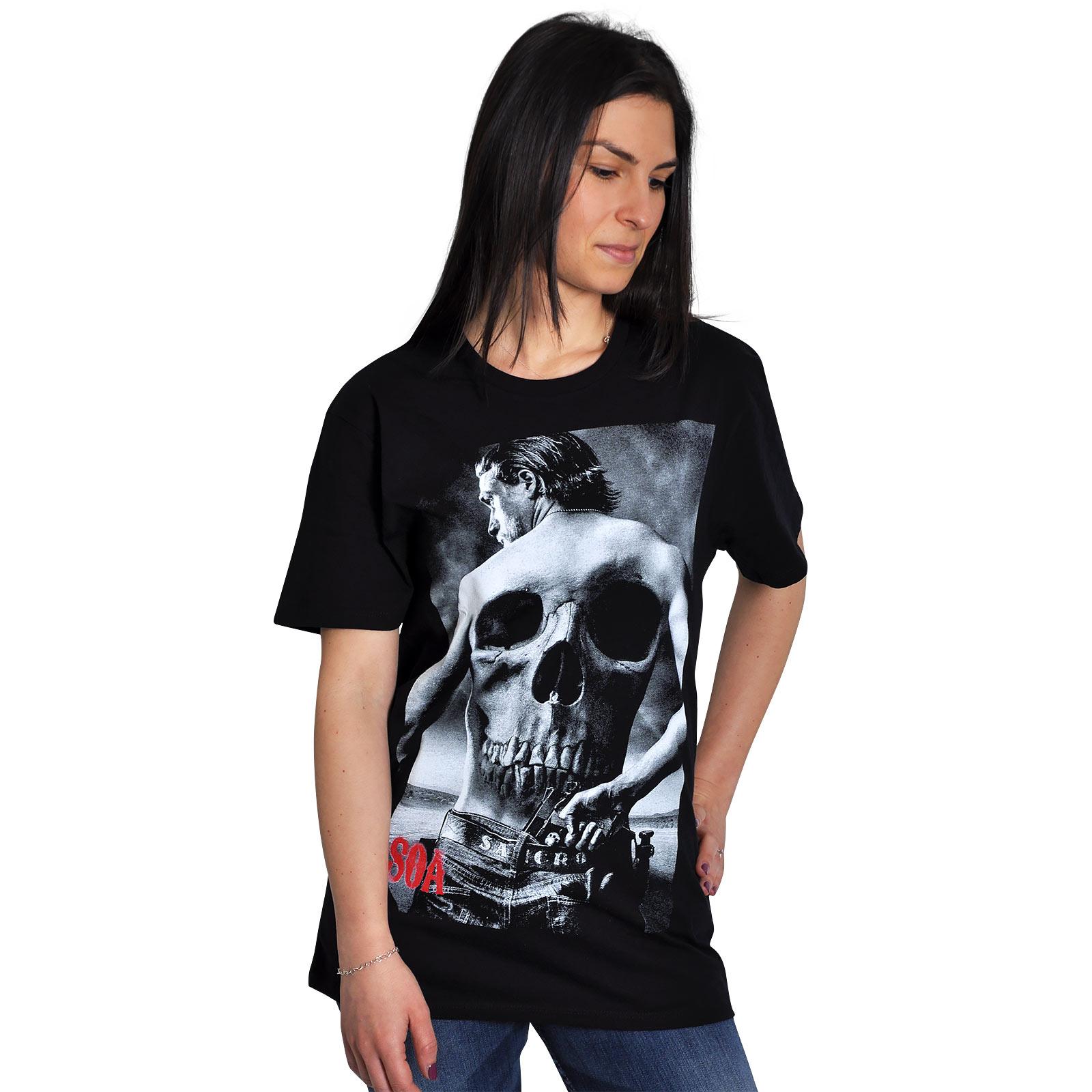 Sons of Anarchy - Skull Head T-Shirt schwarz