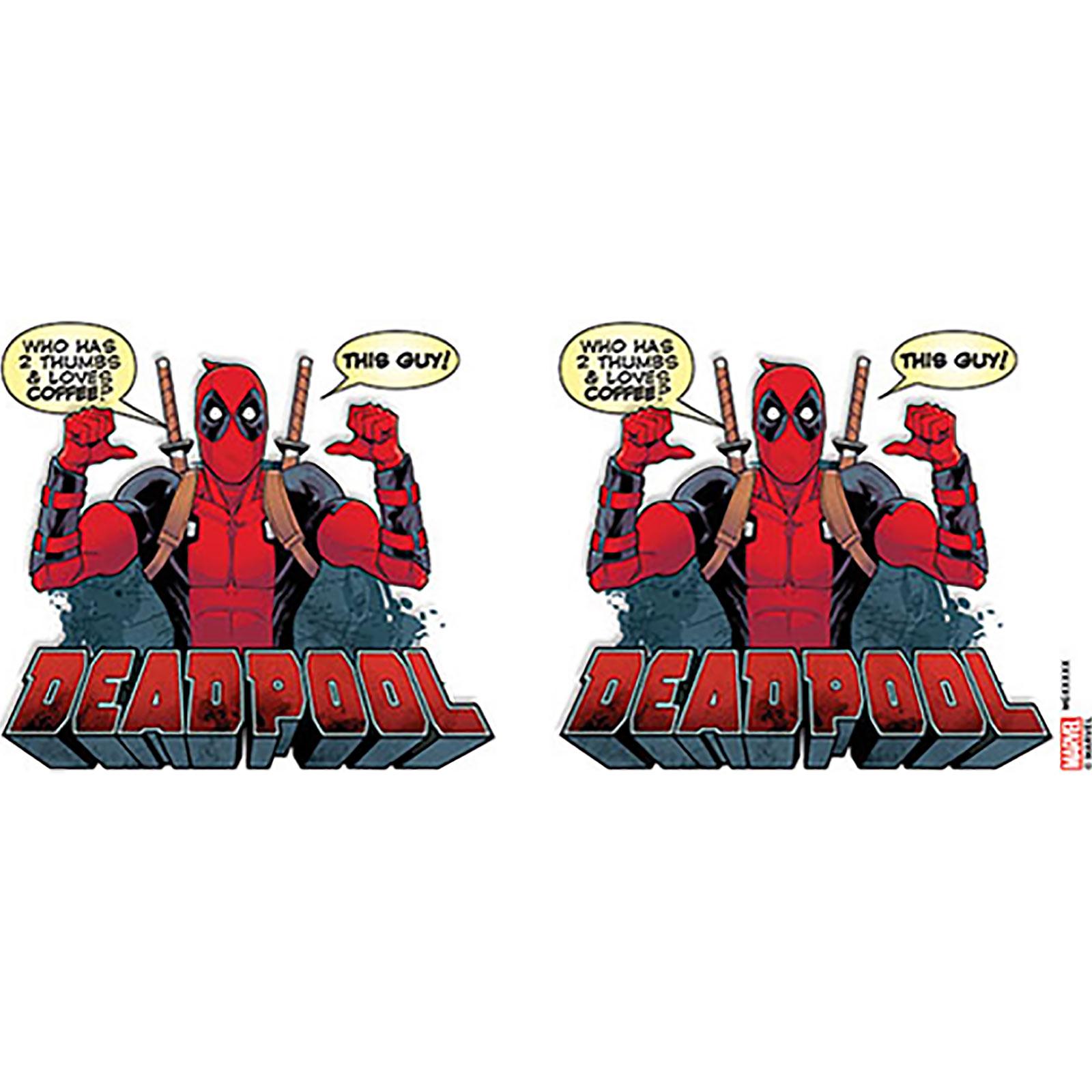 Deadpool - 2 Thumbs Tasse